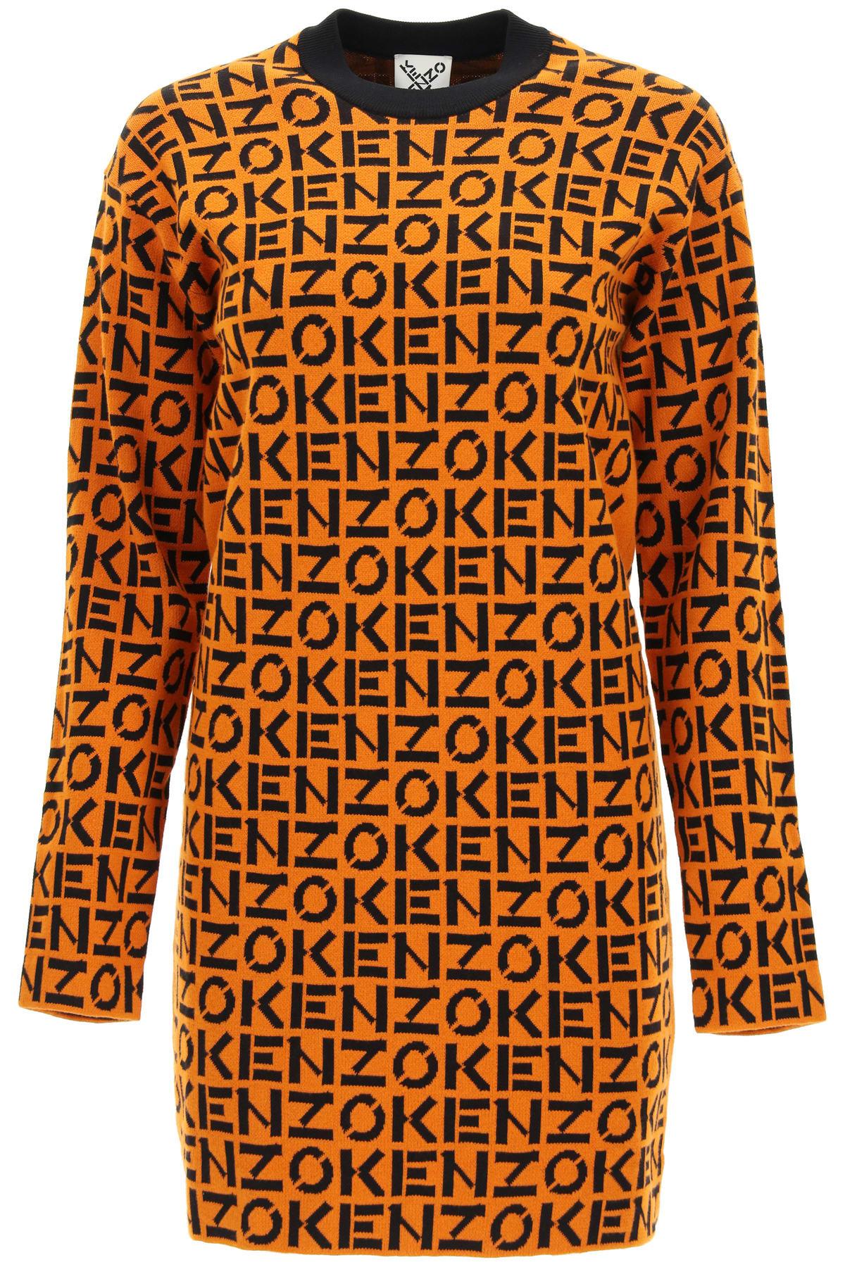 Buy Kenzo Kenzo Sport Monogram Mini Dress online, shop Kenzo with free shipping