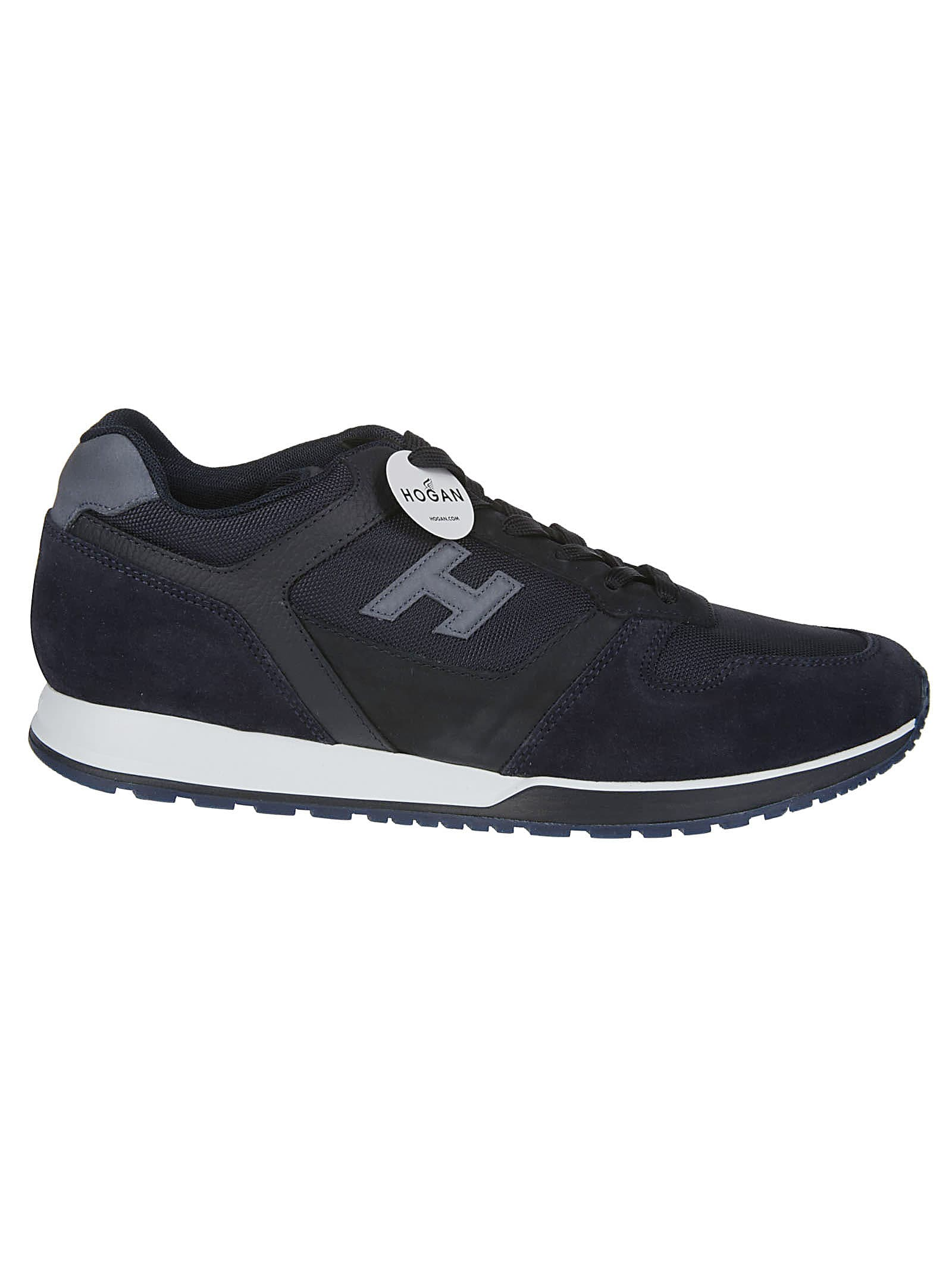 Hogan Blue Leather Sneakers