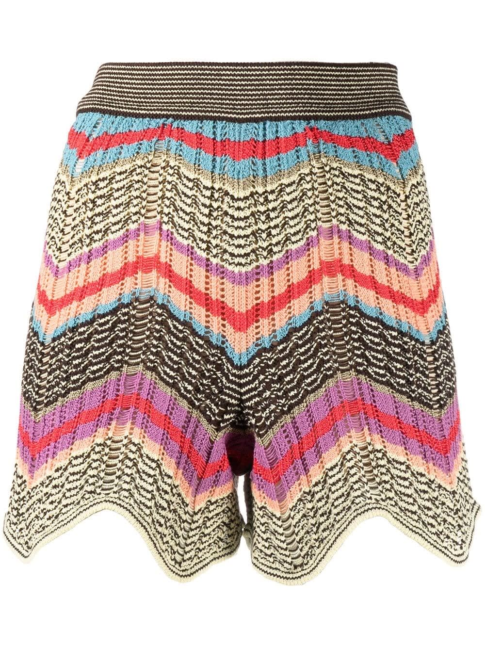M Missoni Shorts ZIG-ZAG MULTICOLOR KNITTED SHORTS