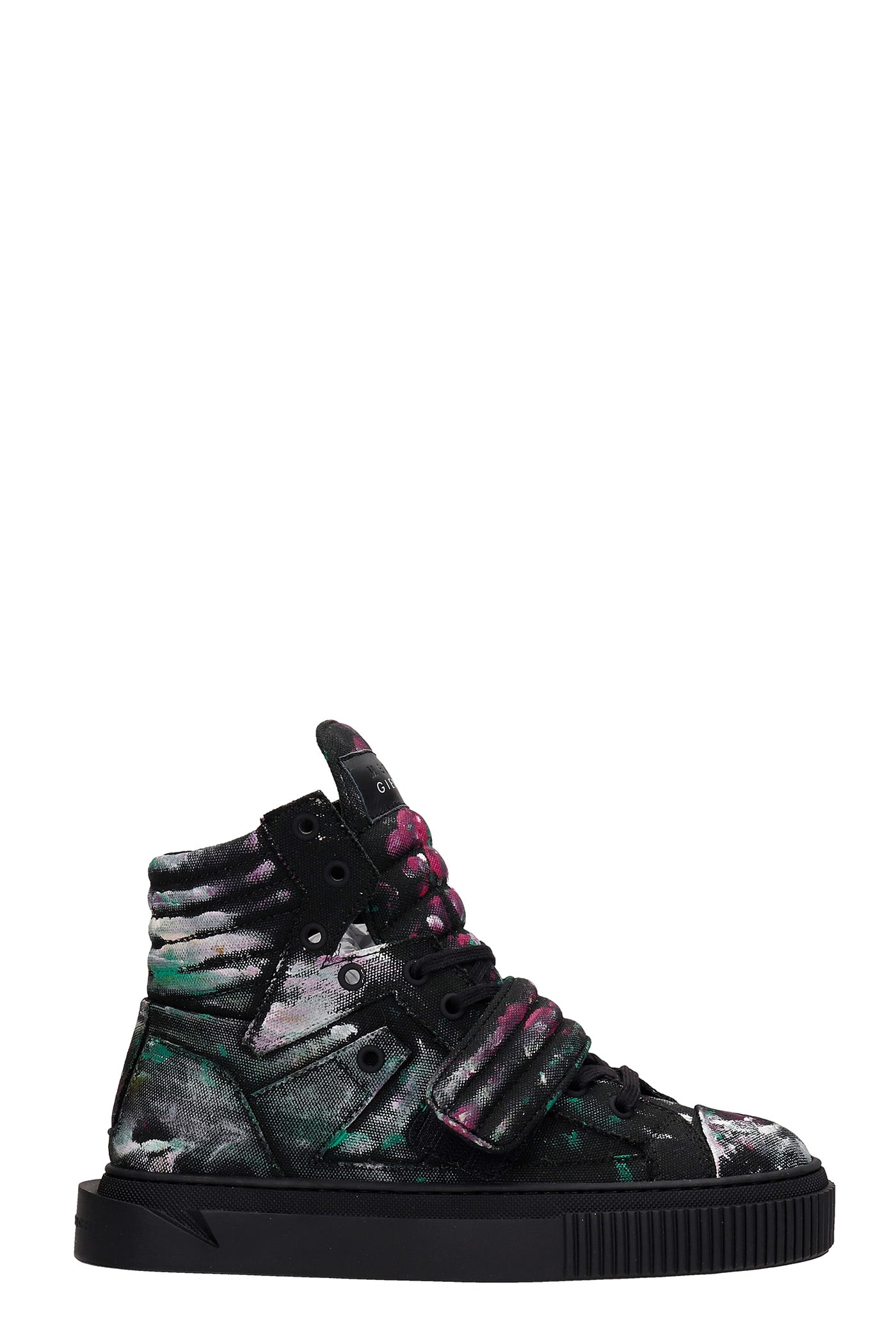 Hypnos Shake Sneakers In Black Canvas
