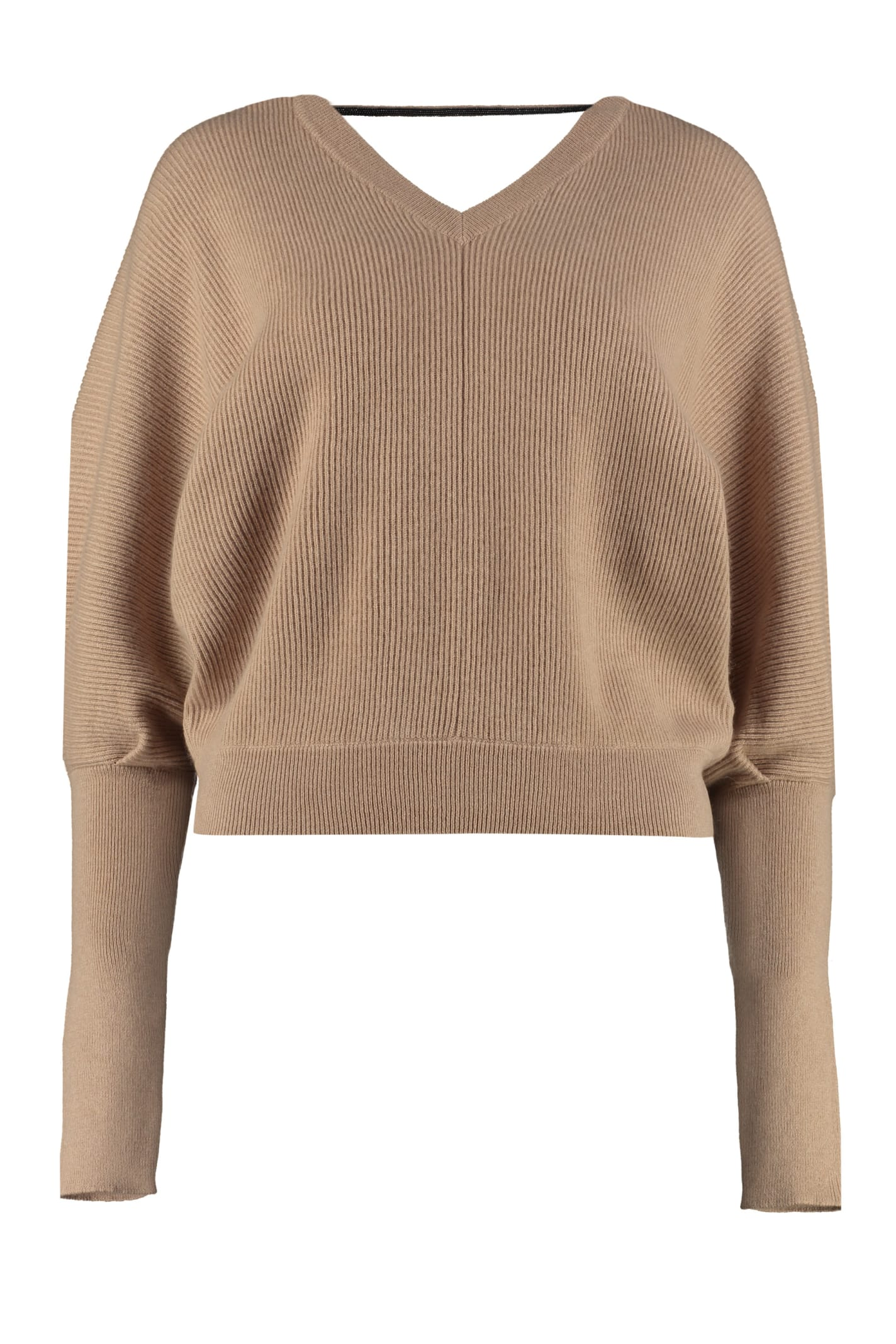 size 40 50a54 51ac7 Best price on the market at italist | Brunello Cucinelli Brunello Cucinelli  Ribbed Cashmere Pullover