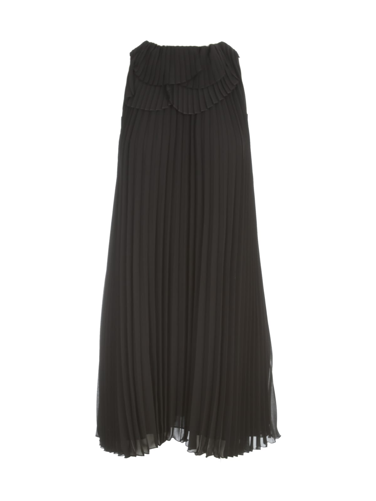 Buy A Line Pleated Sleeveless Dress online, shop Emporio Armani with free shipping