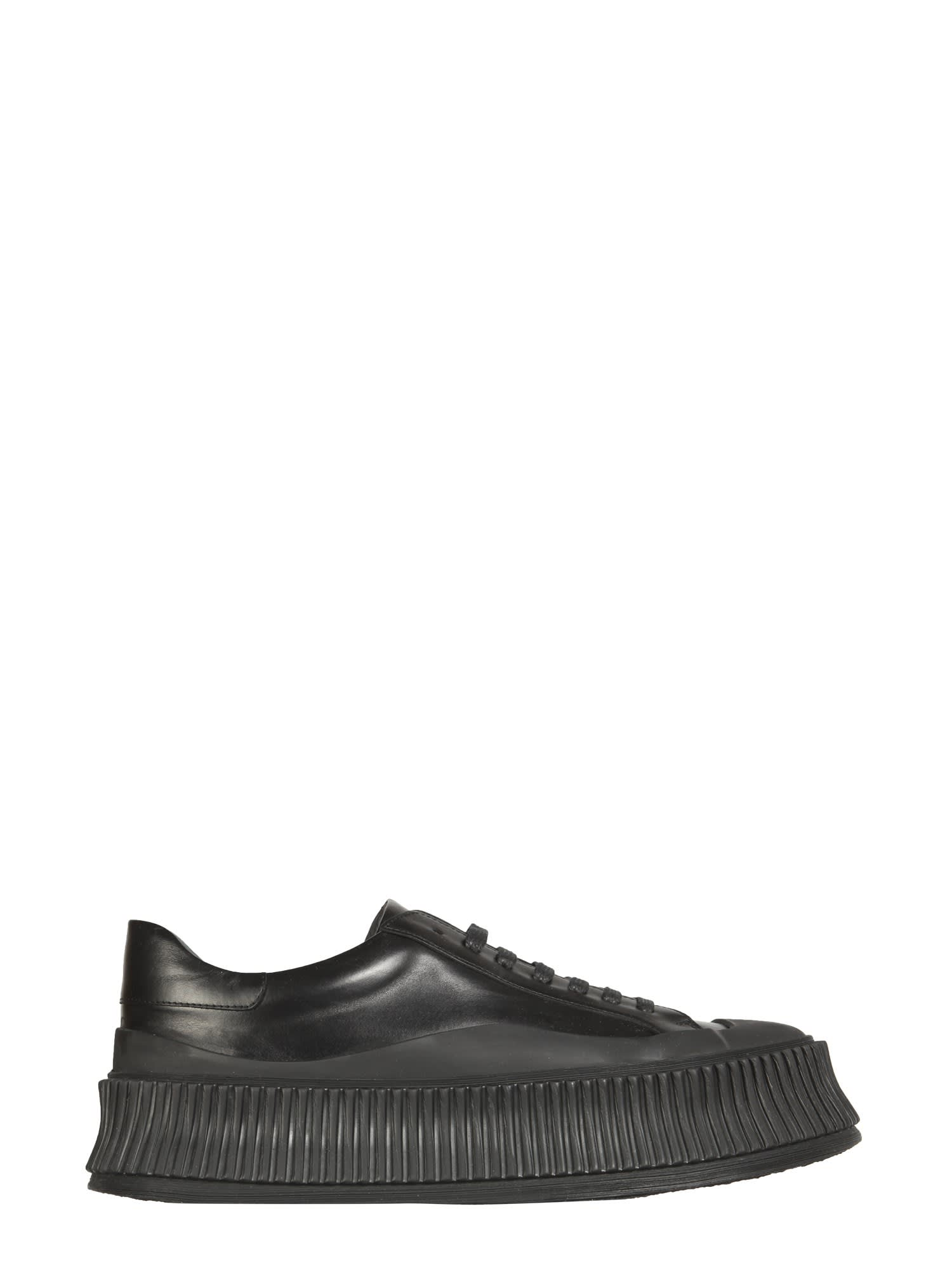 Buy Jil Sander Leather Sneakers online, shop Jil Sander shoes with free shipping