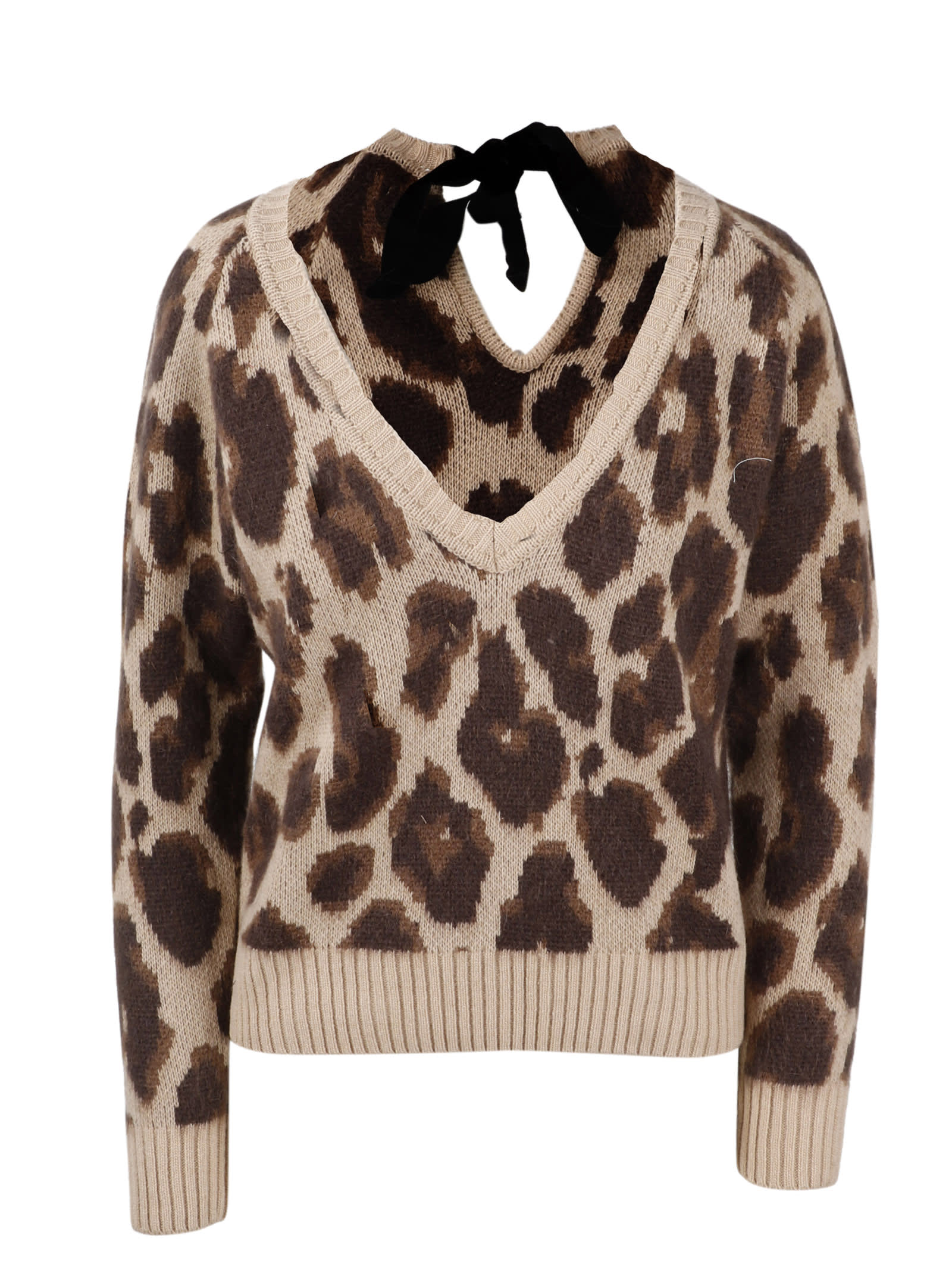 Spotted Jacquard Pullover