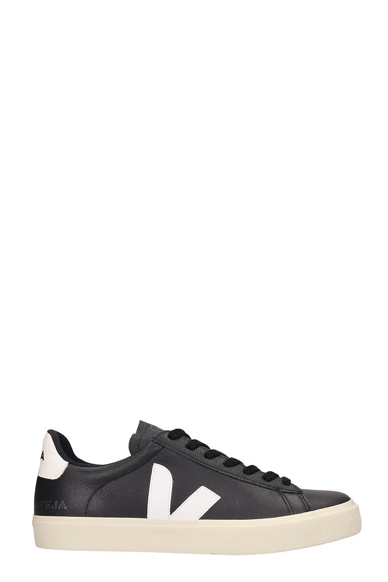 Veja Campo Easy Sneakers In Black Leather