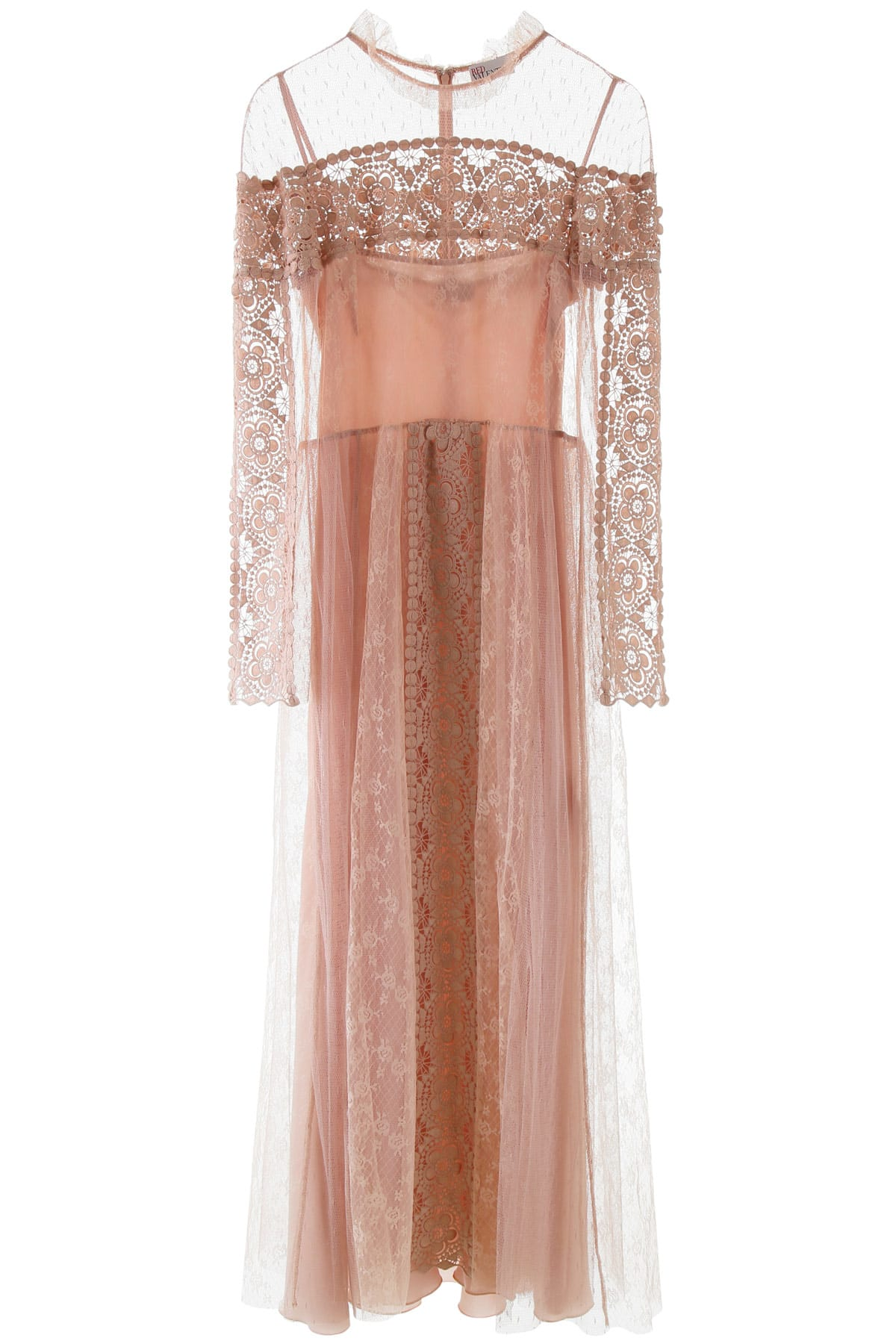 Buy RED Valentino Plumetis And Lace Dress online, shop RED Valentino with free shipping