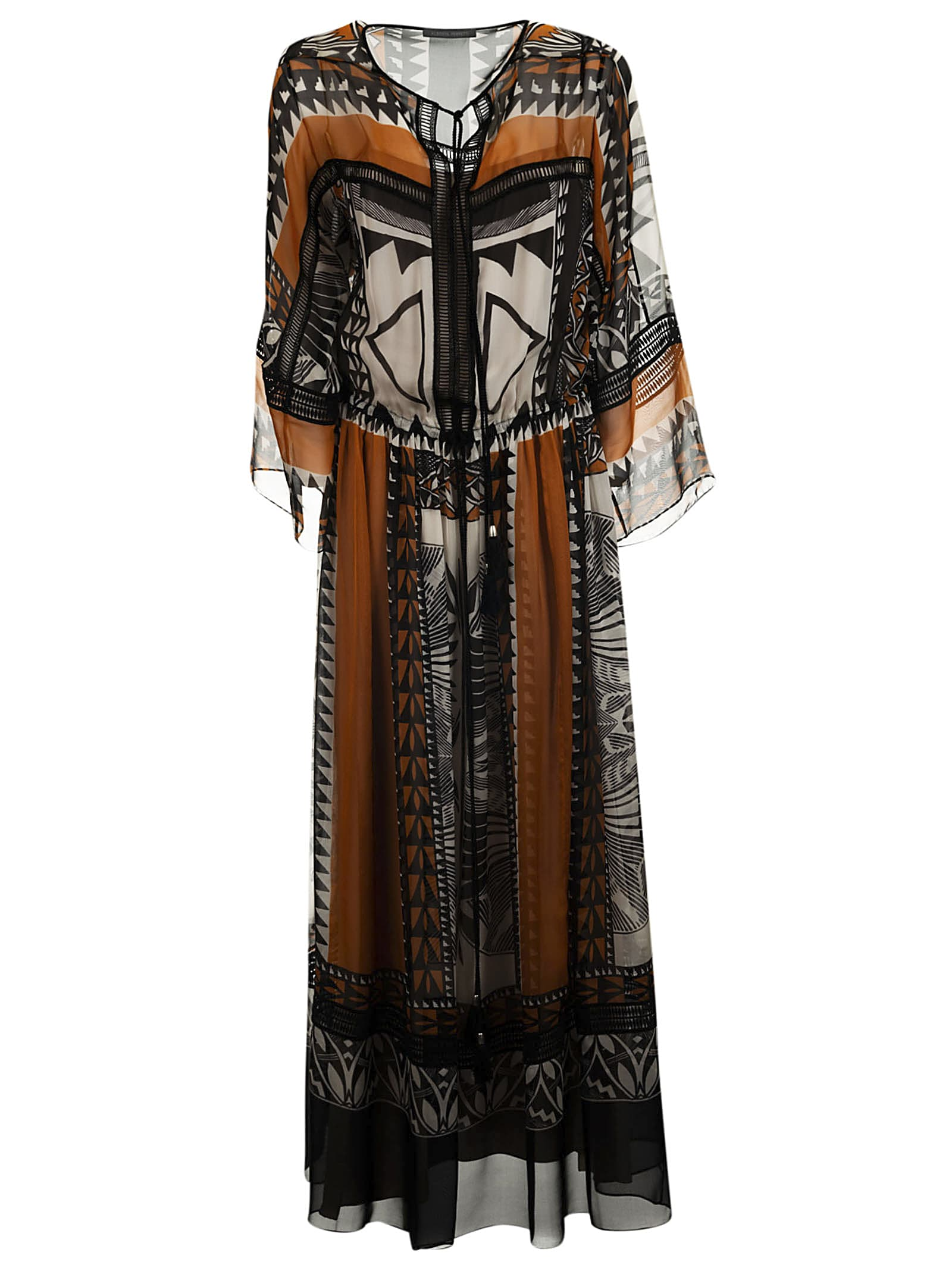 Alberta Ferretti Boho Maxi Dress