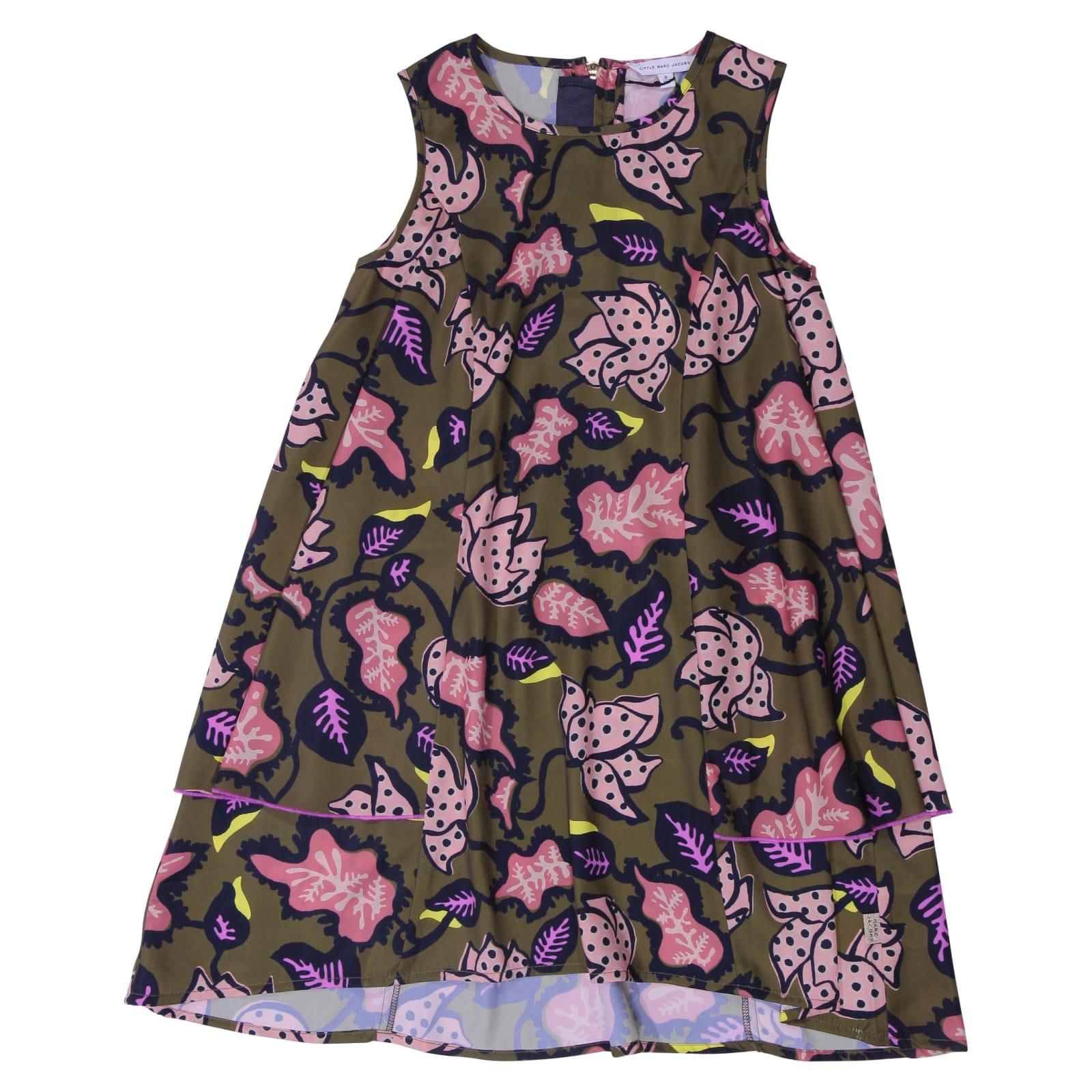 Little Marc Jacobs Floral Print Green Dress