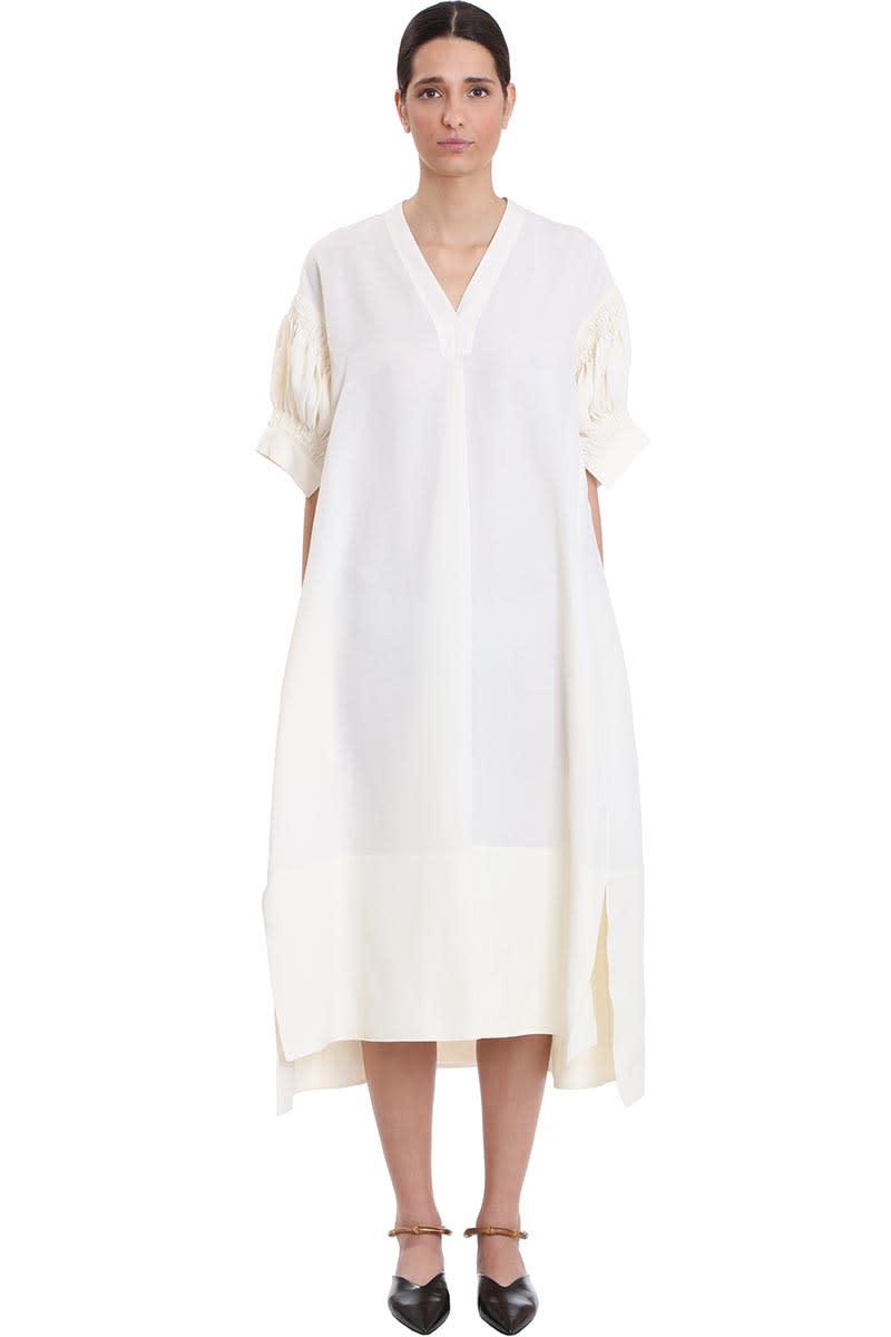 Buy Jil Sander Mela Dress In White Viscose online, shop Jil Sander with free shipping