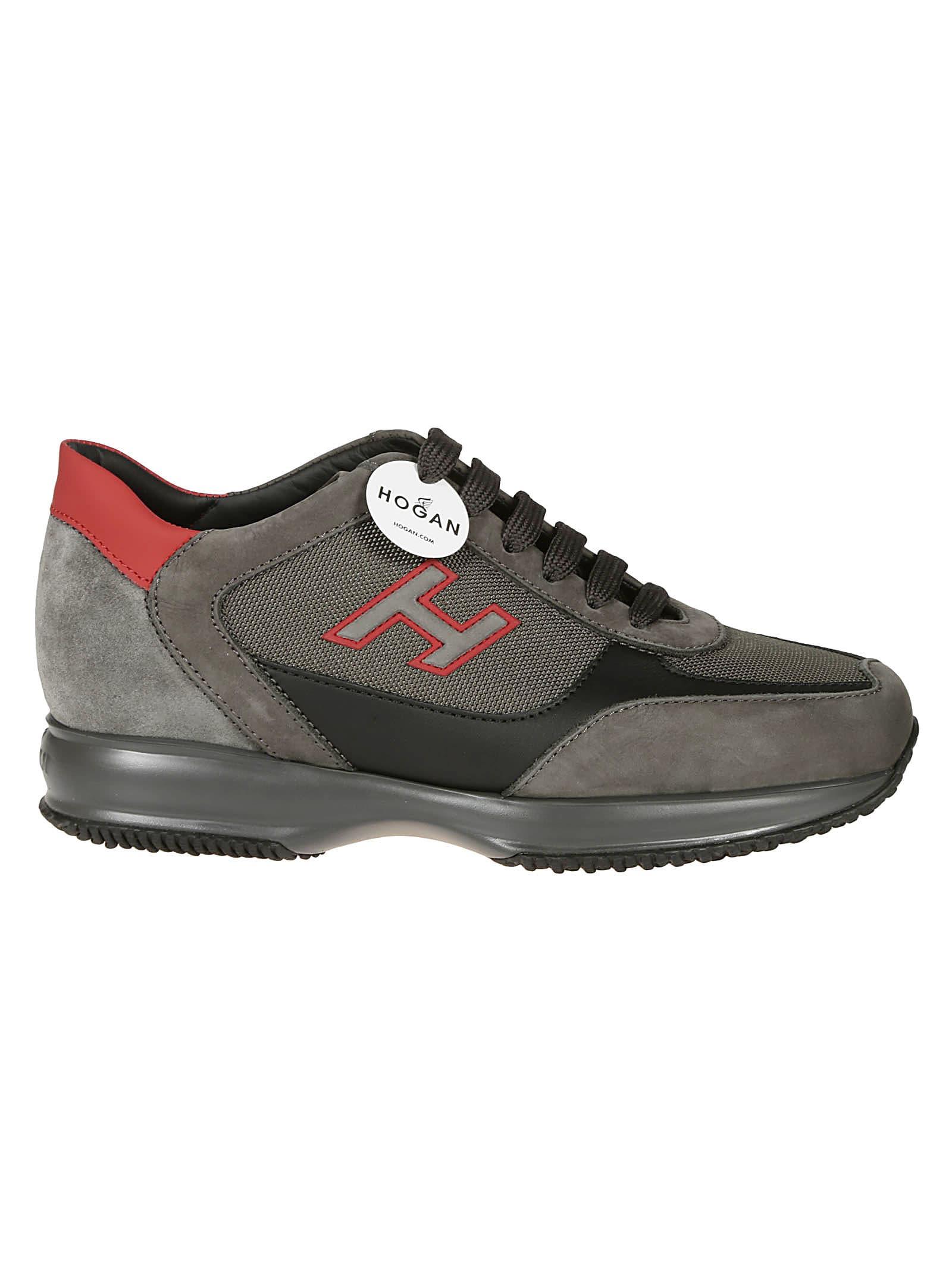 Hogan Interactive H-flock Sneakers In D Grigio | ModeSens
