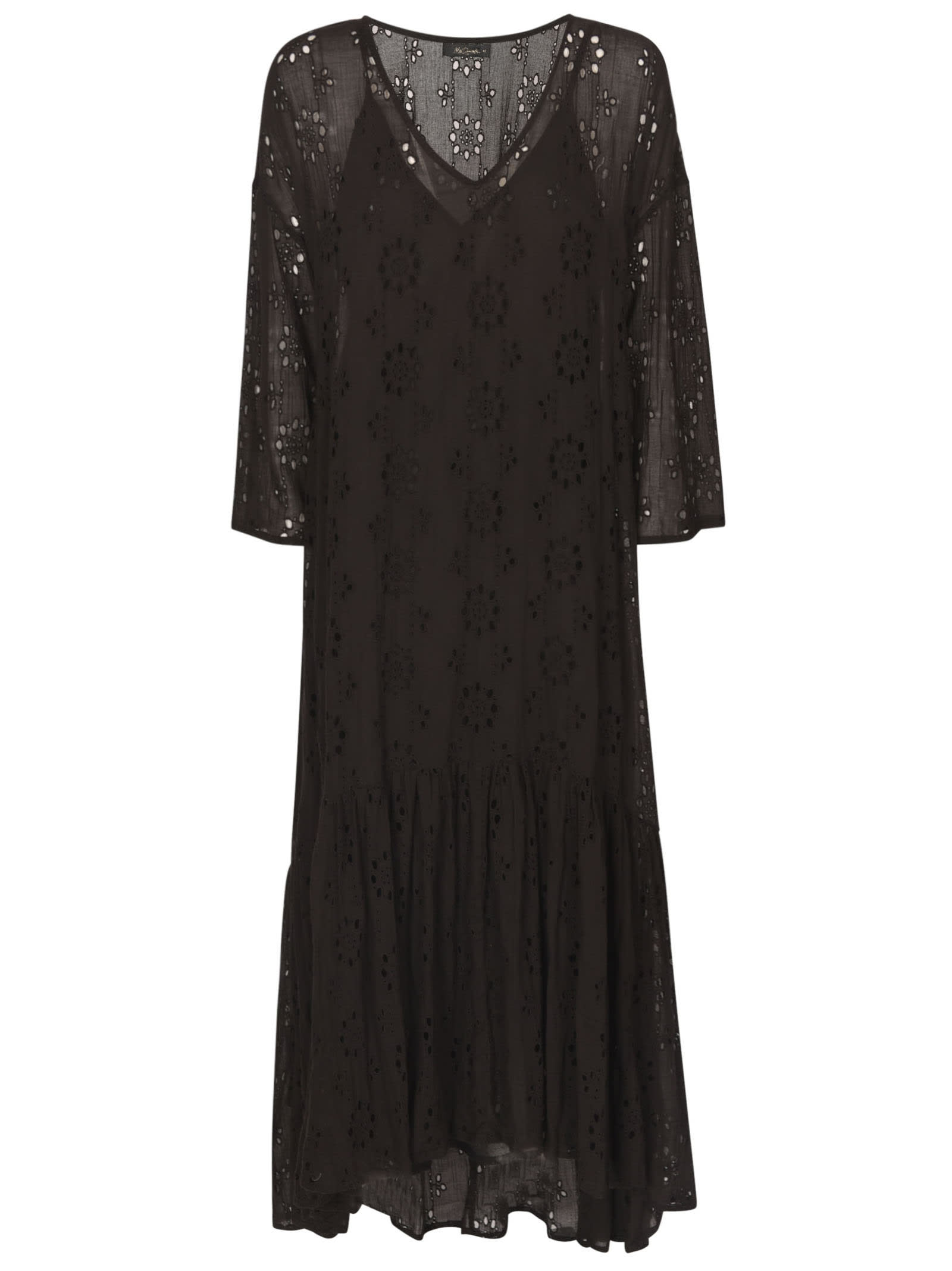 Mes Demoiselles Perforated Lace Paneled Dress