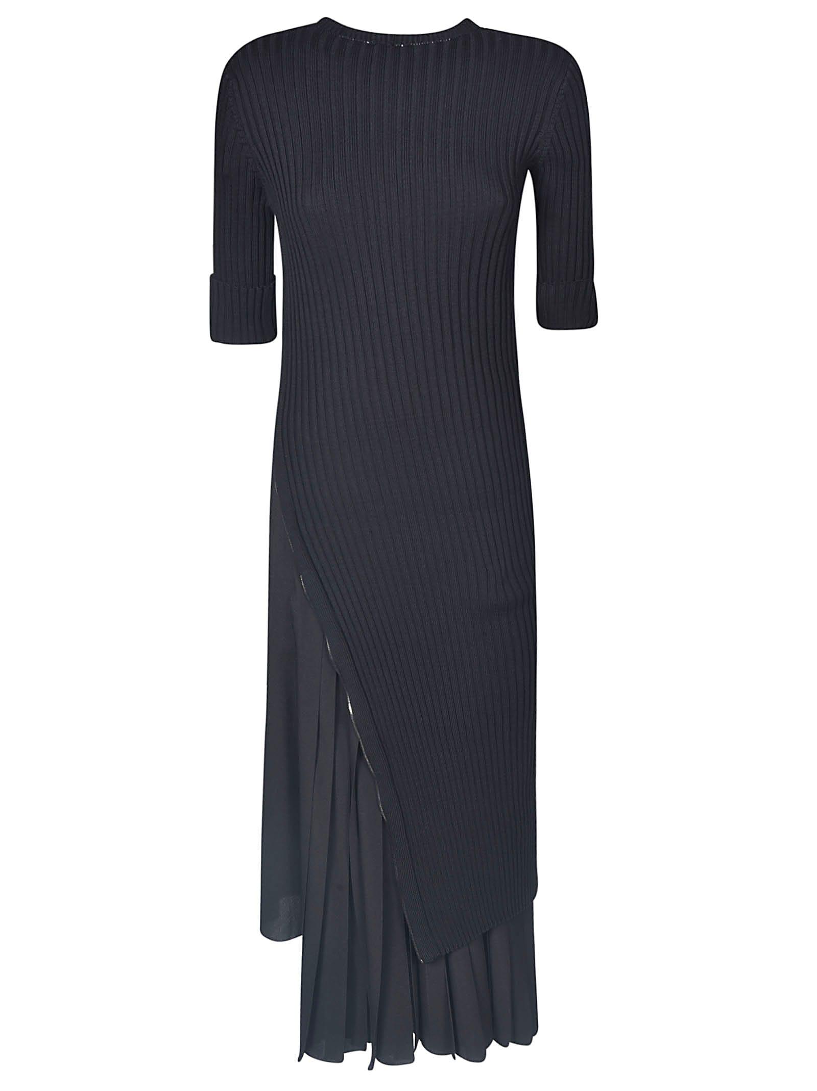 Buy N.21 Ribbed Ruffled Hem Dress online, shop N.21 with free shipping