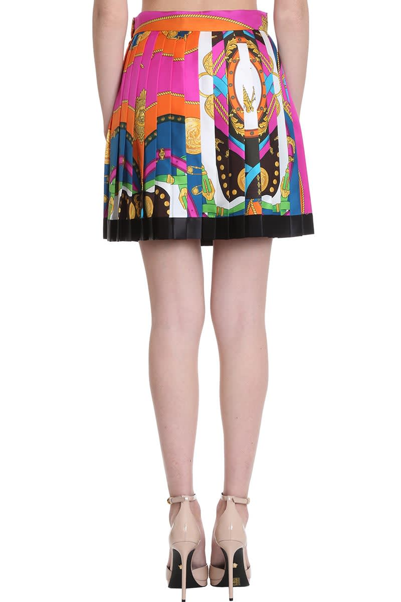 Versace Skirt In Multicolor Silk