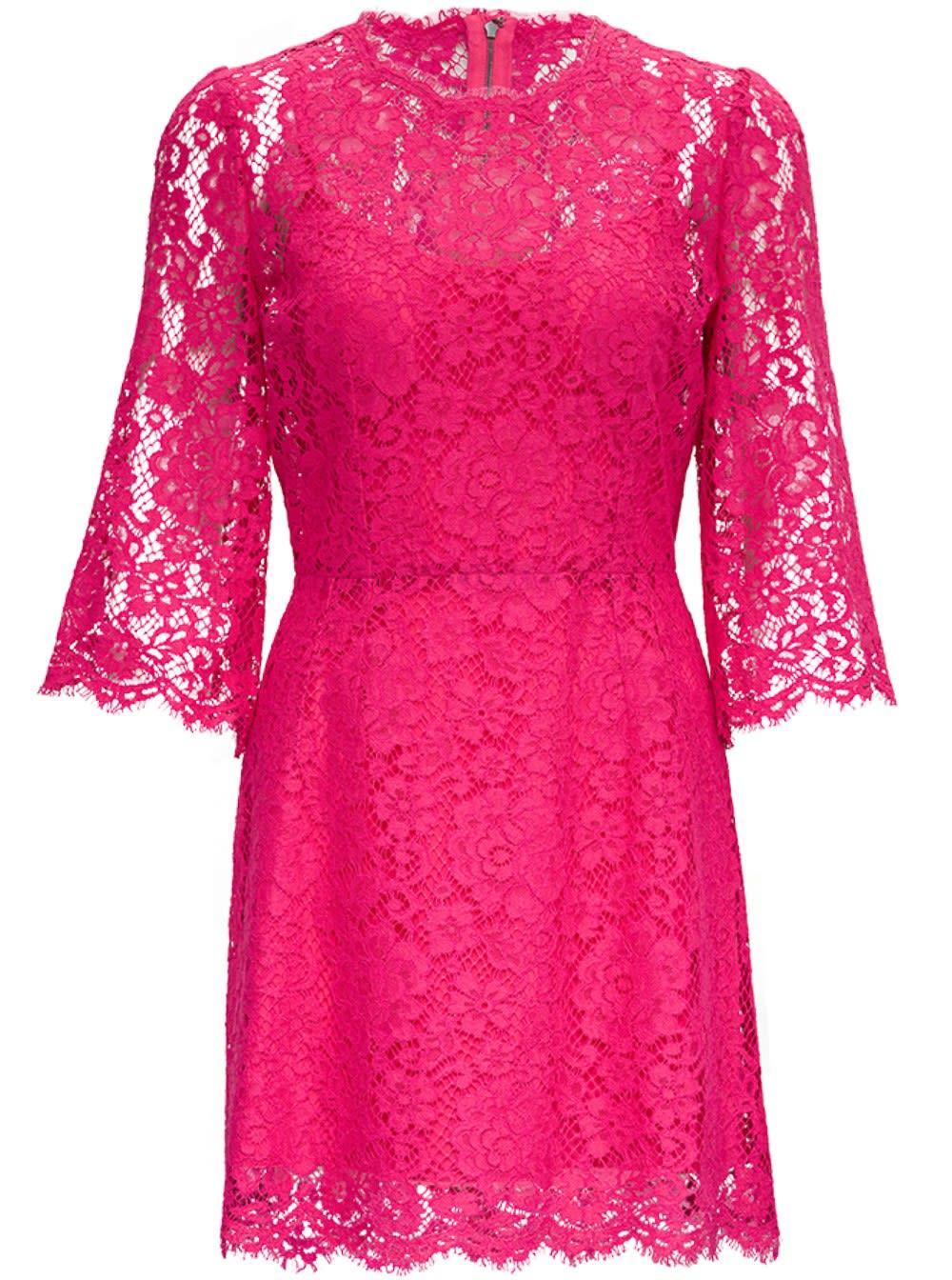 Dolce & Gabbana Cottons PINK LACE DRESS