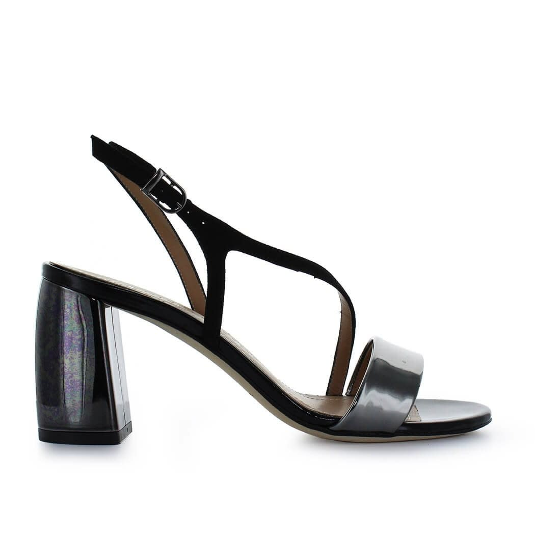 Black Mid-heeled Sandal