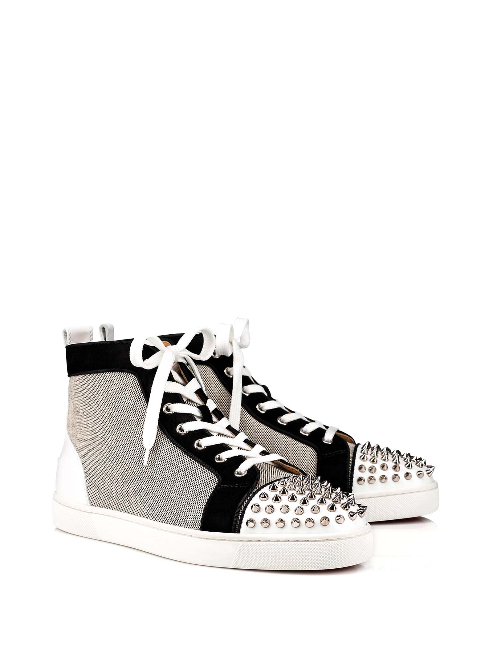 on sale 0ce18 bdec9 Best price on the market at italist | Christian Louboutin Christian  Louboutin Louboutin Lou Spikes Orlato Sneakers