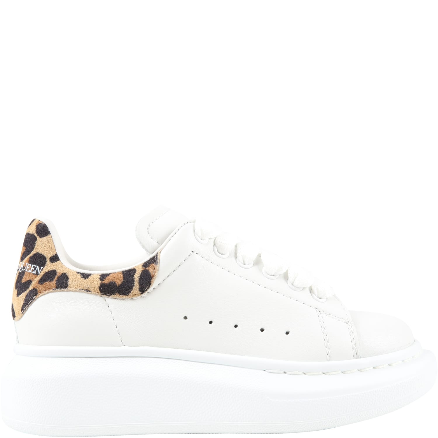 Alexander McQueen White Sneakers For Girl With Logo