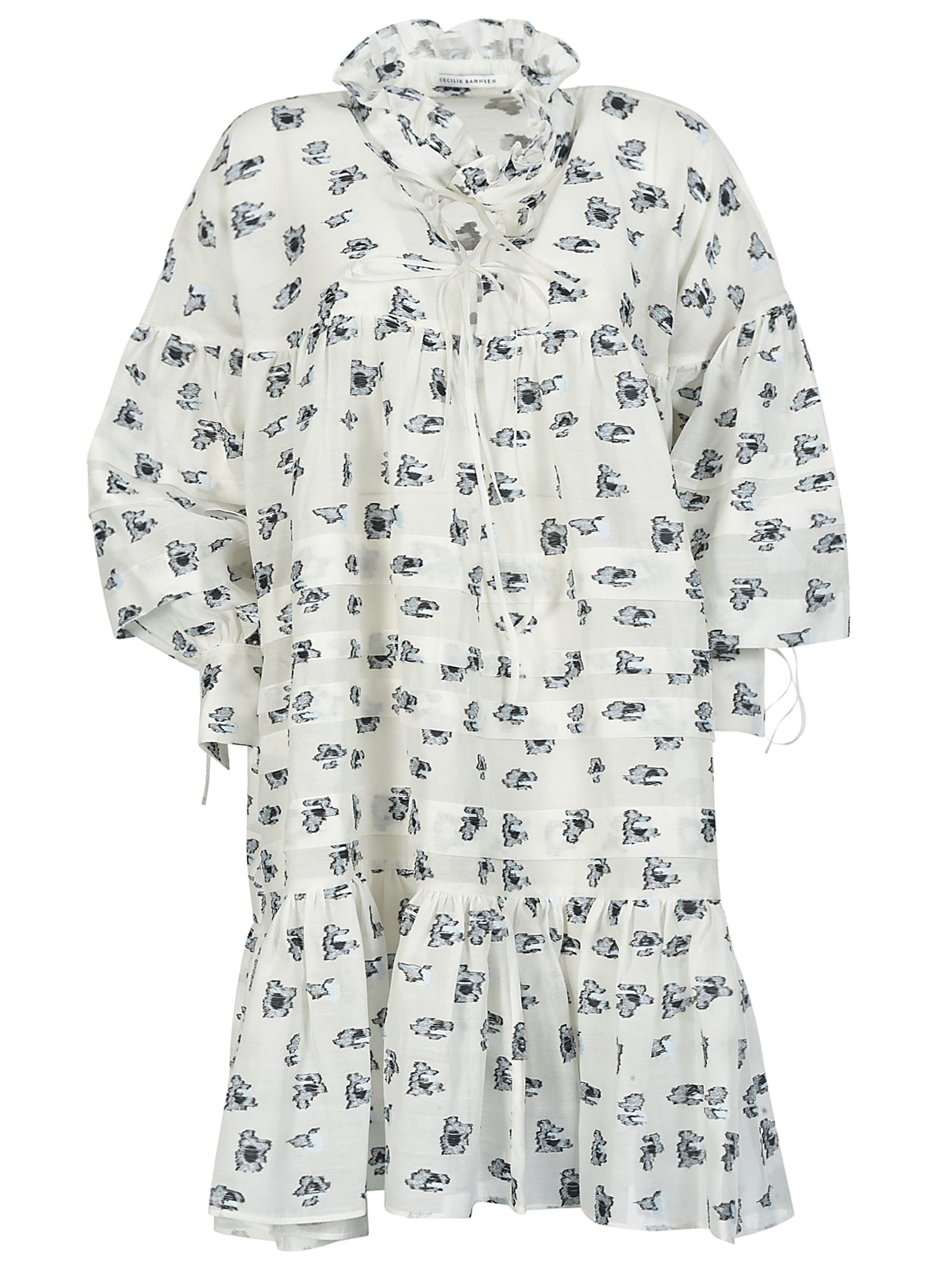 Buy Cecilie Bahnsen Motif Print Oversized Dress online, shop Cecilie Bahnsen with free shipping
