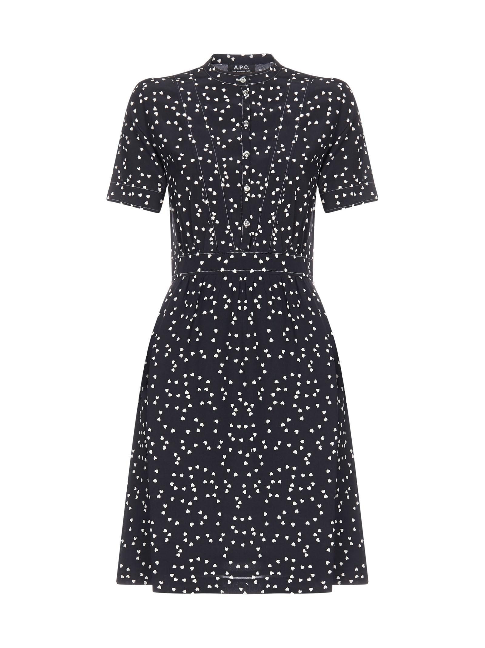 Buy A.P.C. Ss With Heart Dress online, shop A.P.C. with free shipping