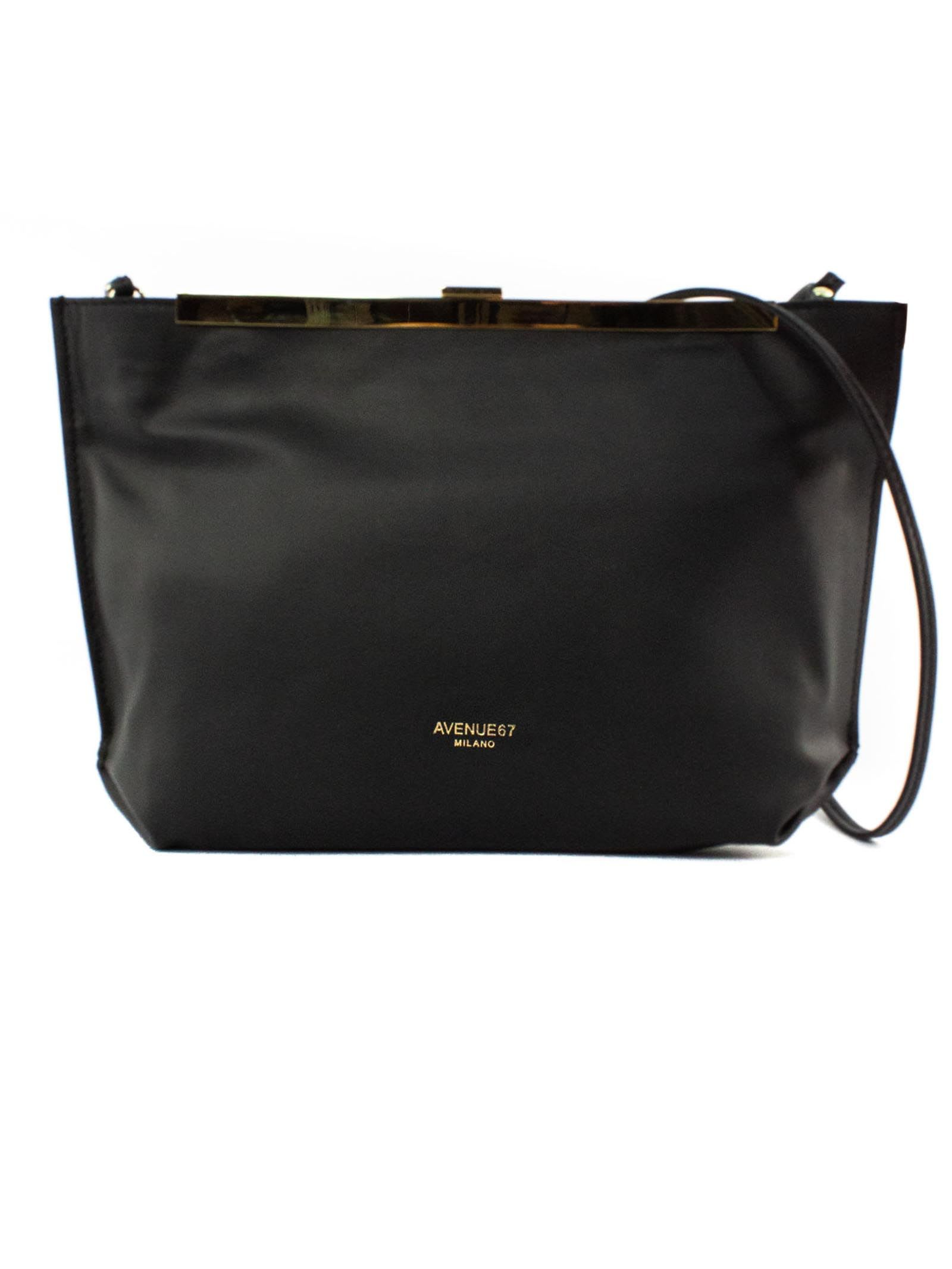Guia Clutch In Black Soft Leather