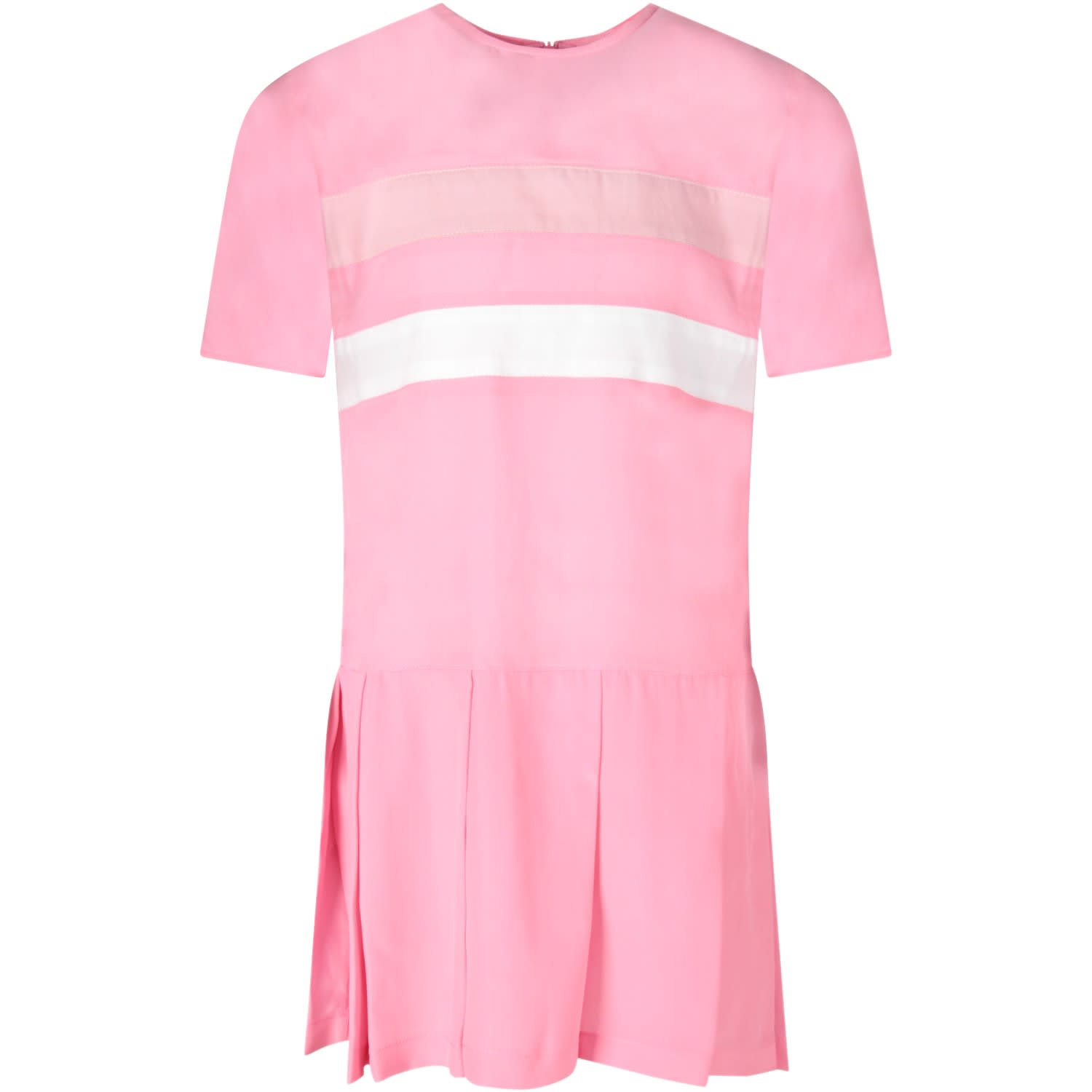 Buy Marni Pink Girl Dress With Stripes online, shop Marni with free shipping