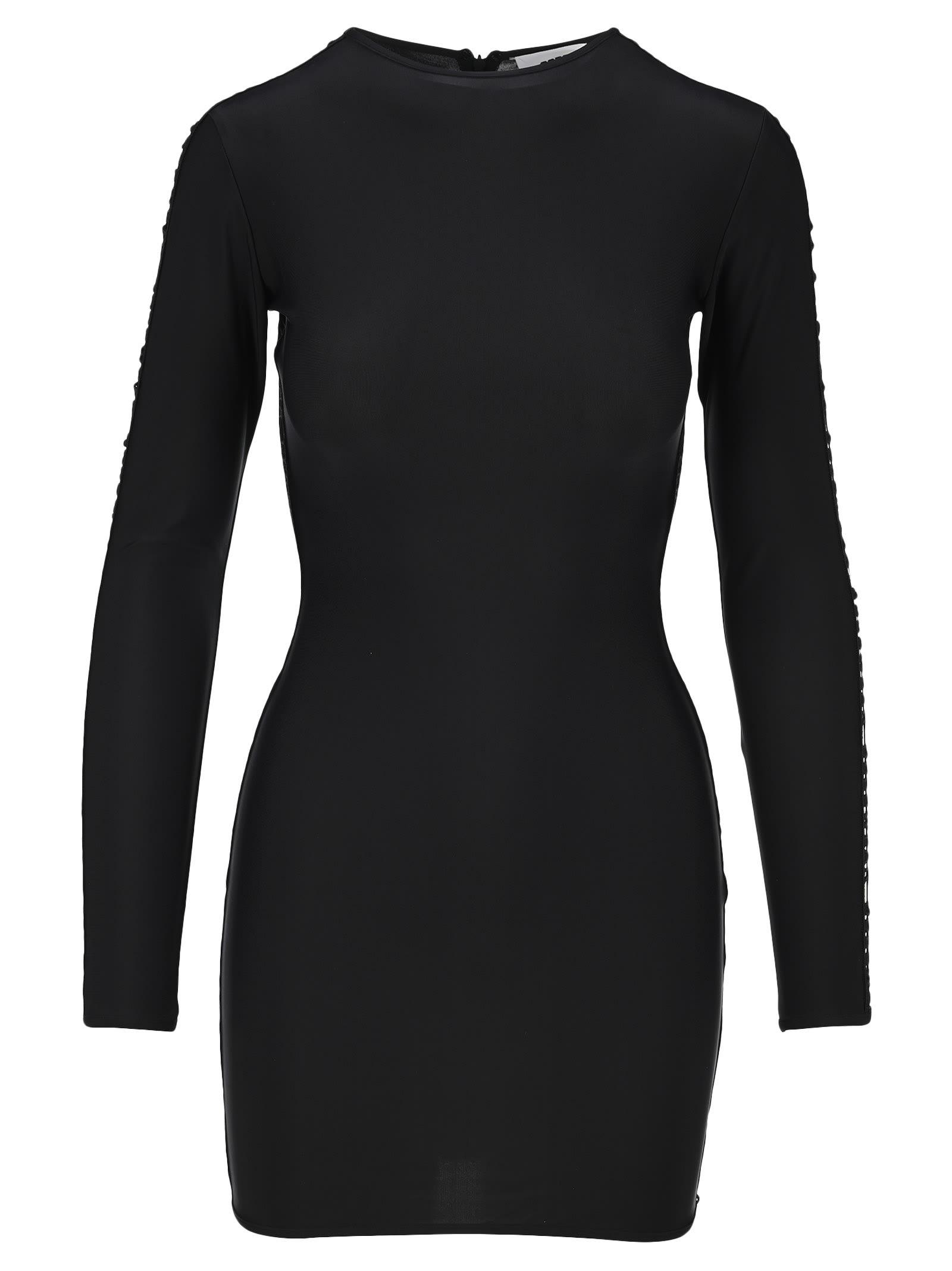 Gcds Embroidered Logo Mini Dress