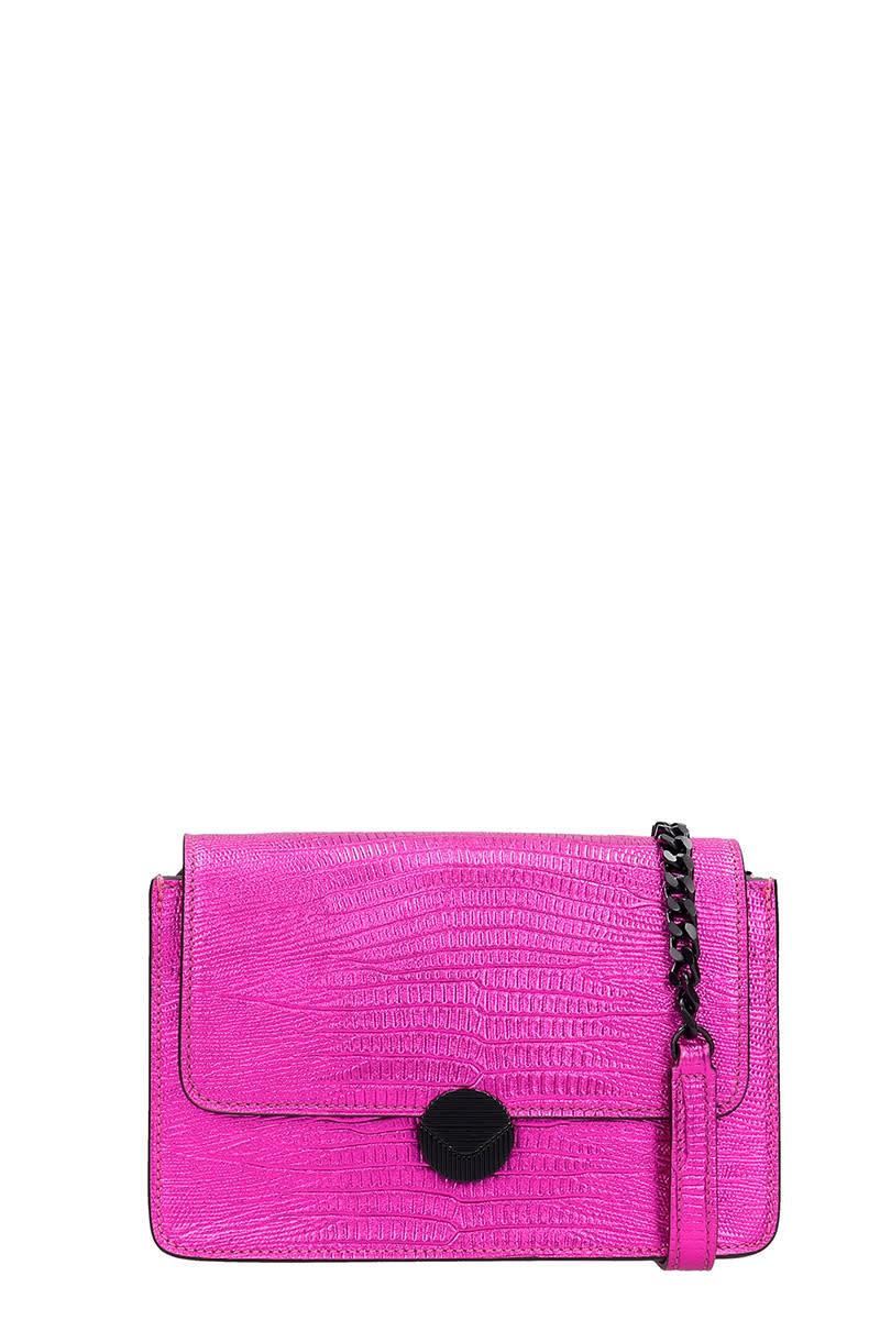 Visone Shoulder Bag In Fuxia Leather