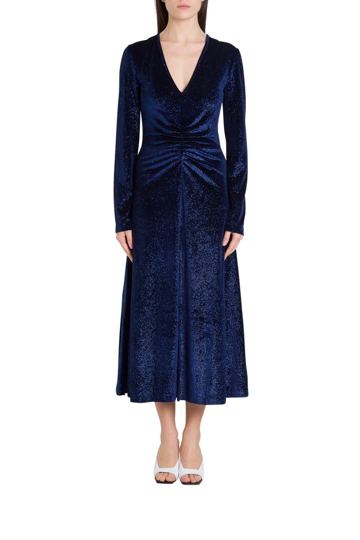 Buy Rotate by Birger Christensen Velvet Dress Number 7 online, shop Rotate by Birger Christensen with free shipping