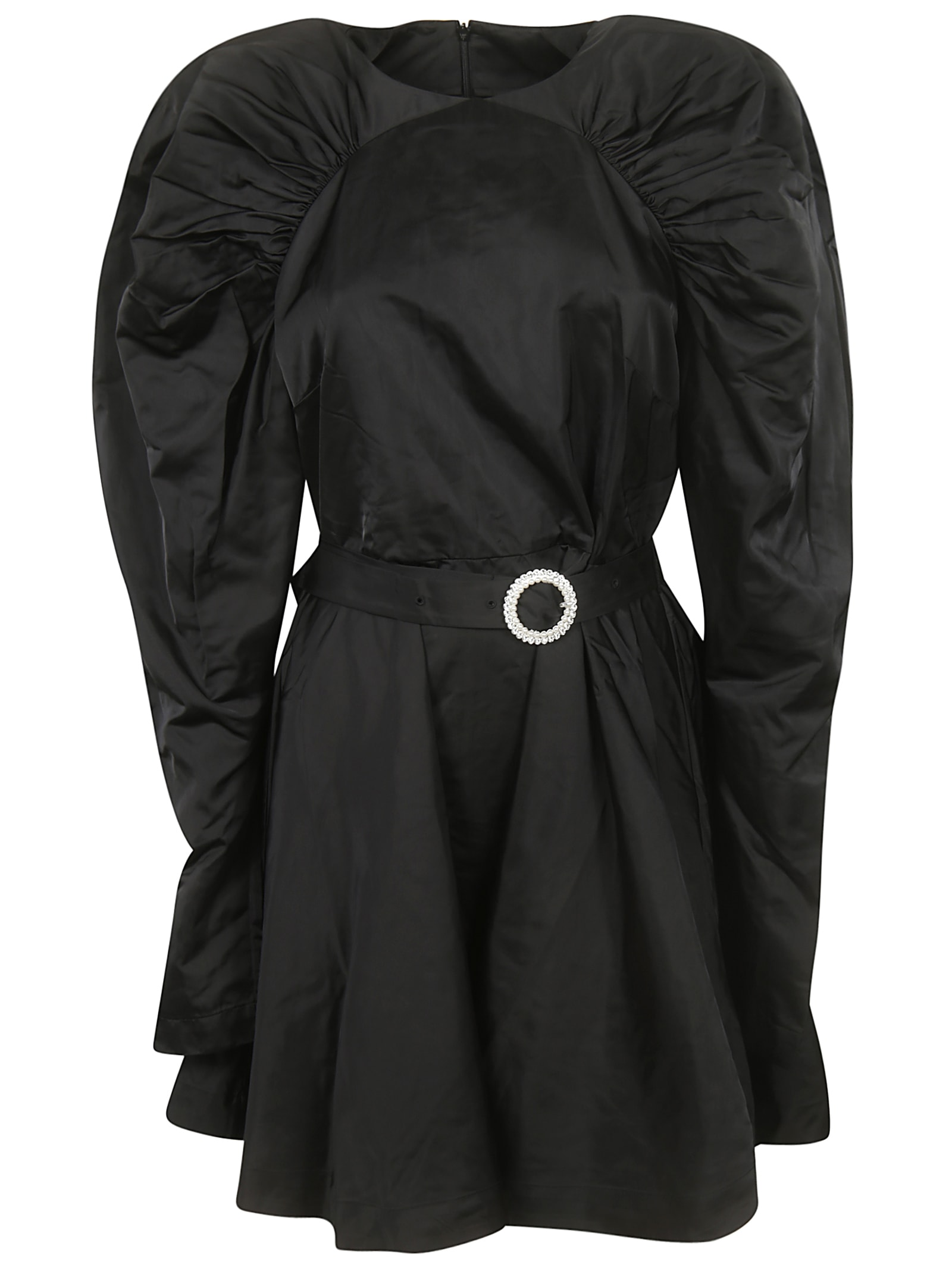 Rotate by Birger Christensen Ruffled Belted Dress