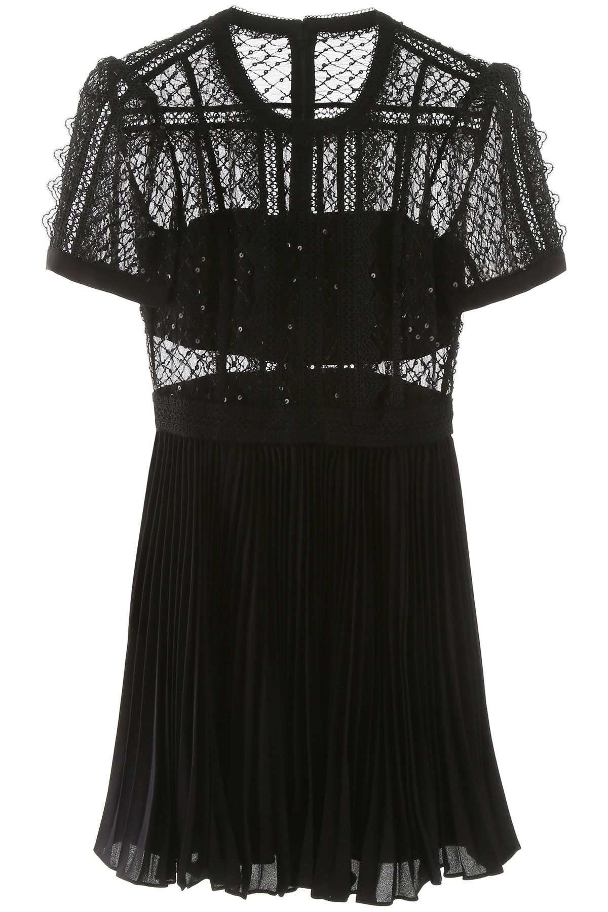 Buy self-portrait Mini Dress With Lace And Sequins online, shop self-portrait with free shipping