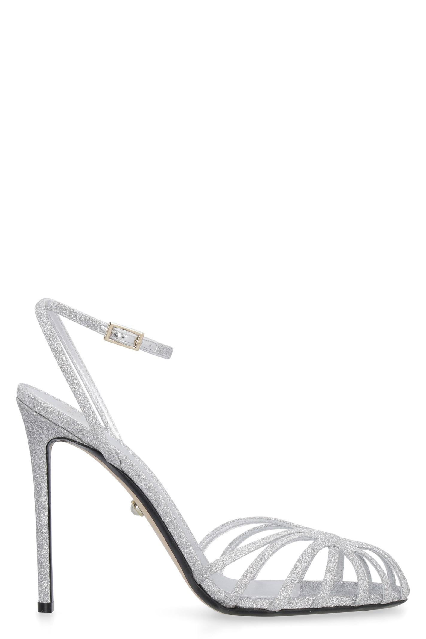 Gloria Glitter Ankle-strap Sandals