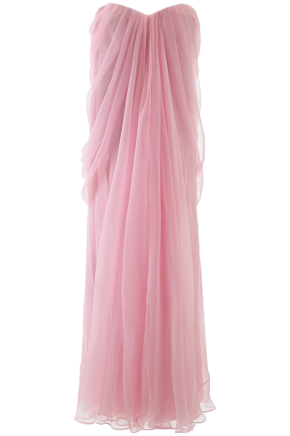 Buy Alexander McQueen Long Silk Dress online, shop Alexander McQueen with free shipping