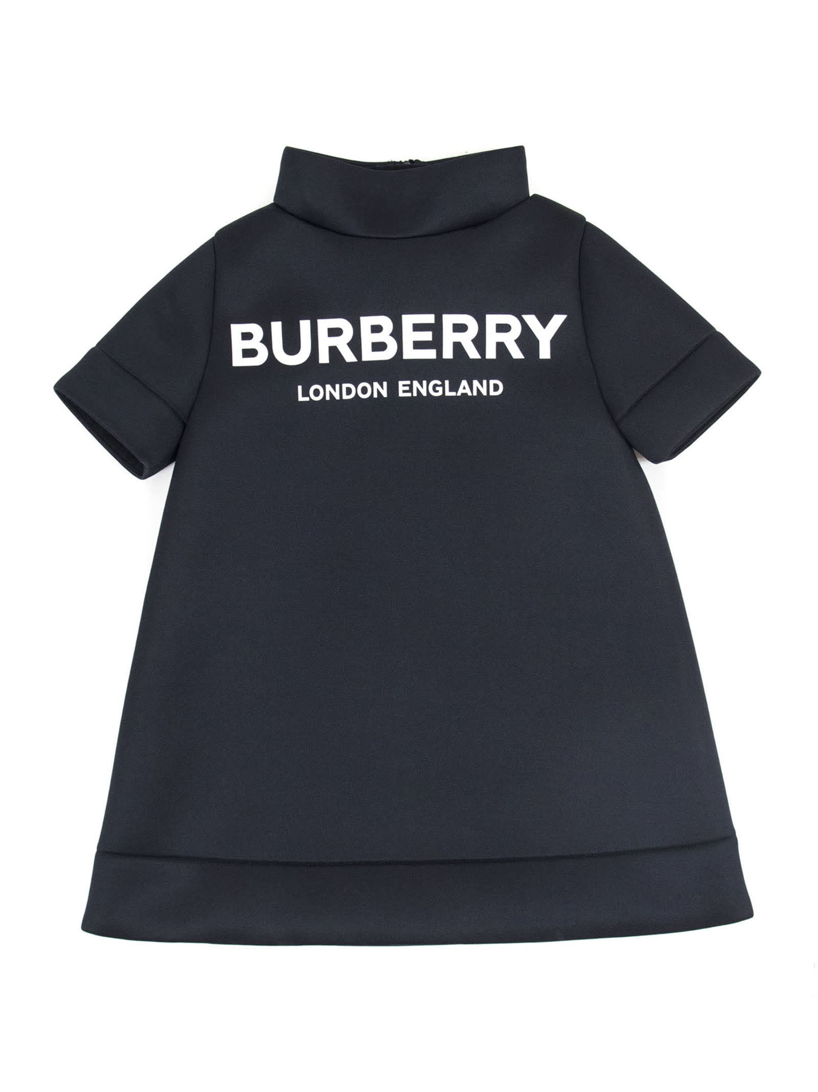 Burberry Black Funnel Neck Dress