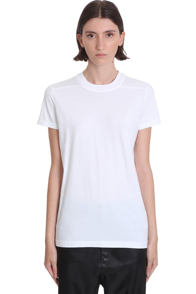 Drkshdw Ss Crew Level T-shirt In White Cotton