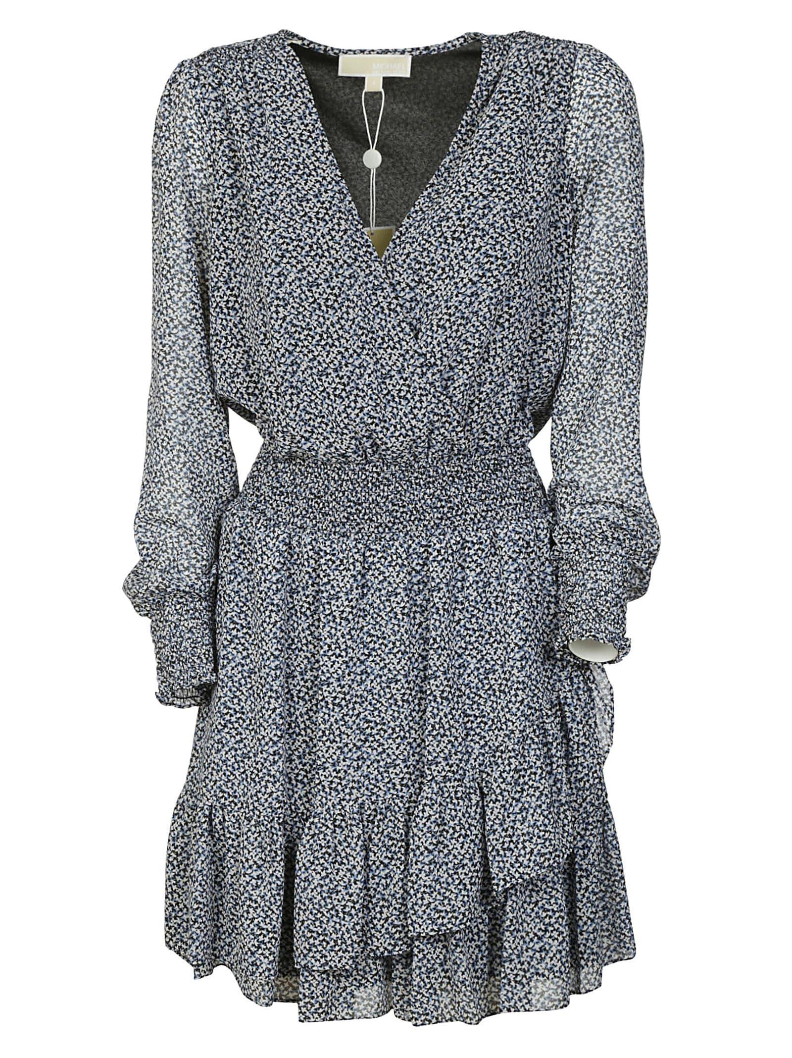 Buy Michael Kors V-neck Asymmetric Dress online, shop Michael Kors with free shipping