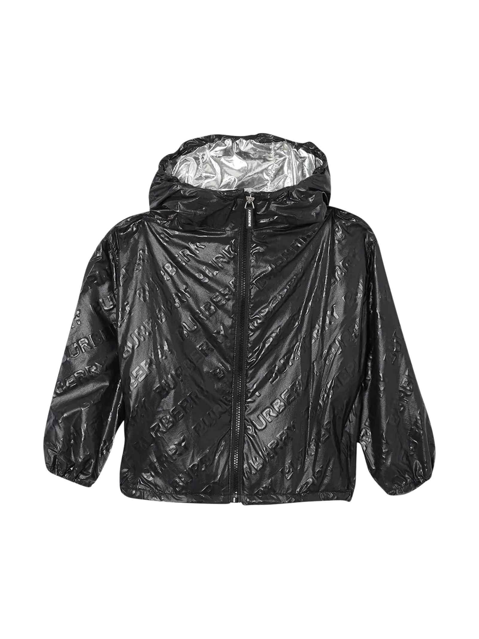 Burberry Kids' Black Jacket In Nero