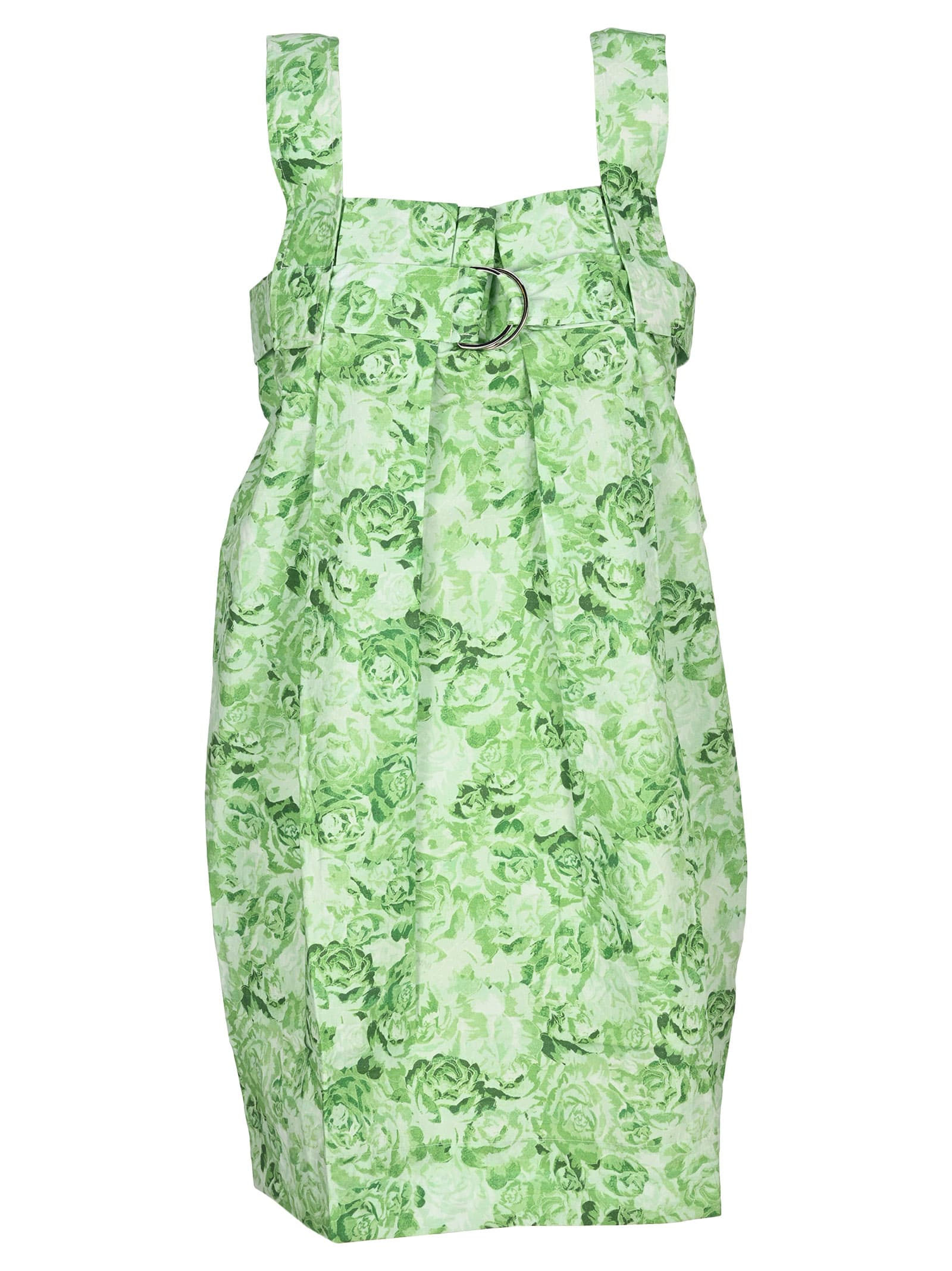 Buy Ganni Printed Cotton Mini Dress online, shop Ganni with free shipping