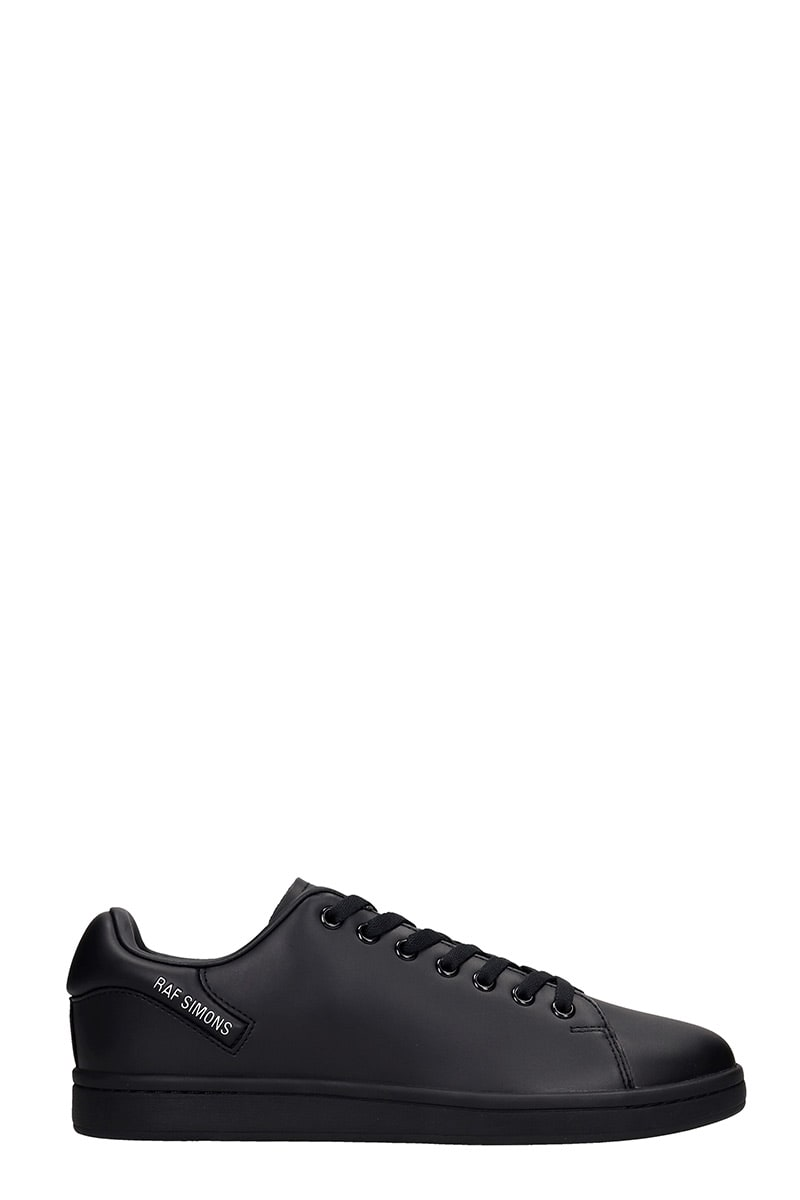 Raf Simons ORION SNEAKERS IN BLACK LEATHER