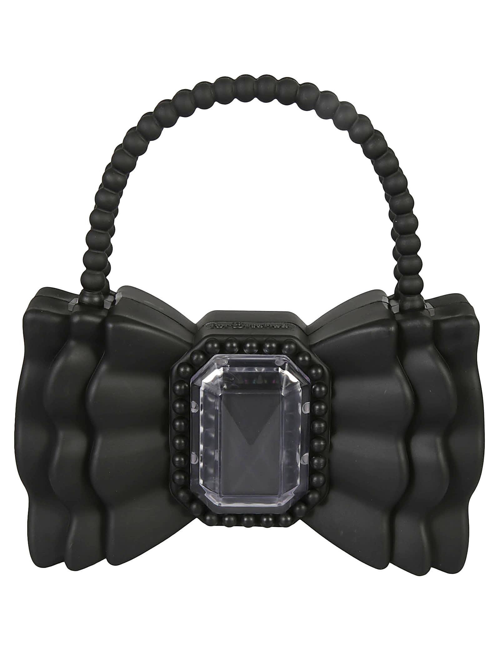 Studded Bow Shoulder Bag