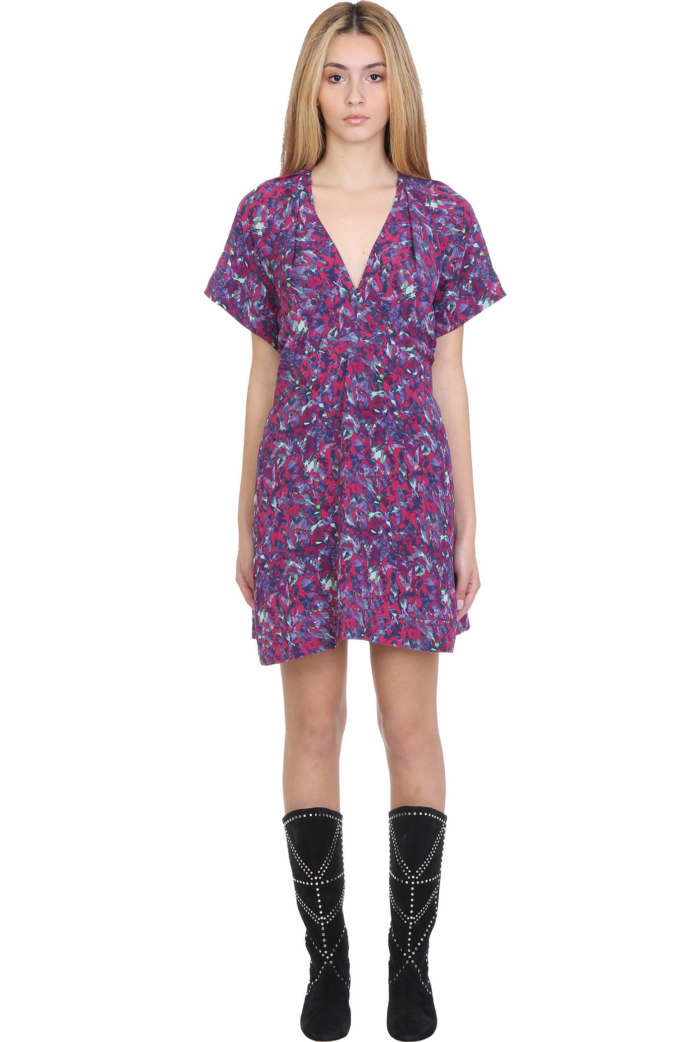 Buy IRO Bago Dress In Multicolor Viscose online, shop IRO with free shipping