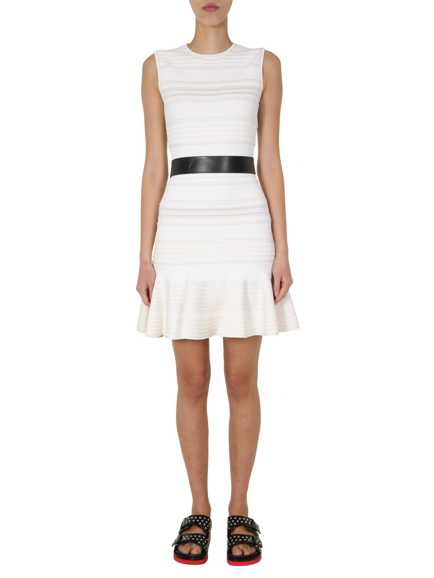 Buy Alexander McQueen Knitted Mini Dress online, shop Alexander McQueen with free shipping