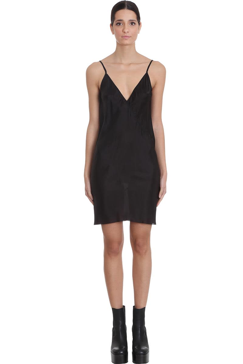 Buy Rick Owens Slip Dress Dress In Black Viscose online, shop Rick Owens with free shipping