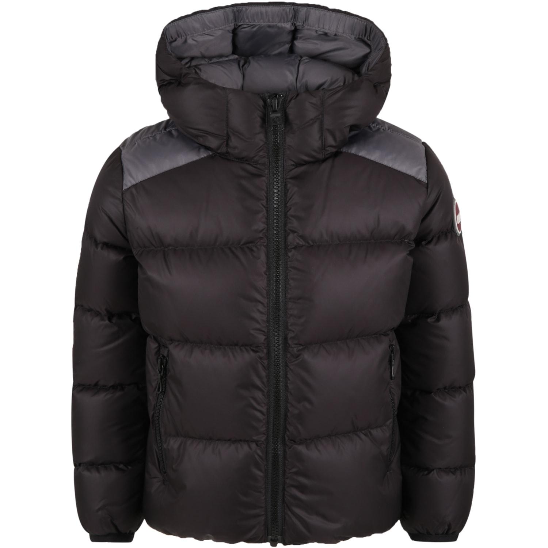 Black Jacket For Kids With Logo
