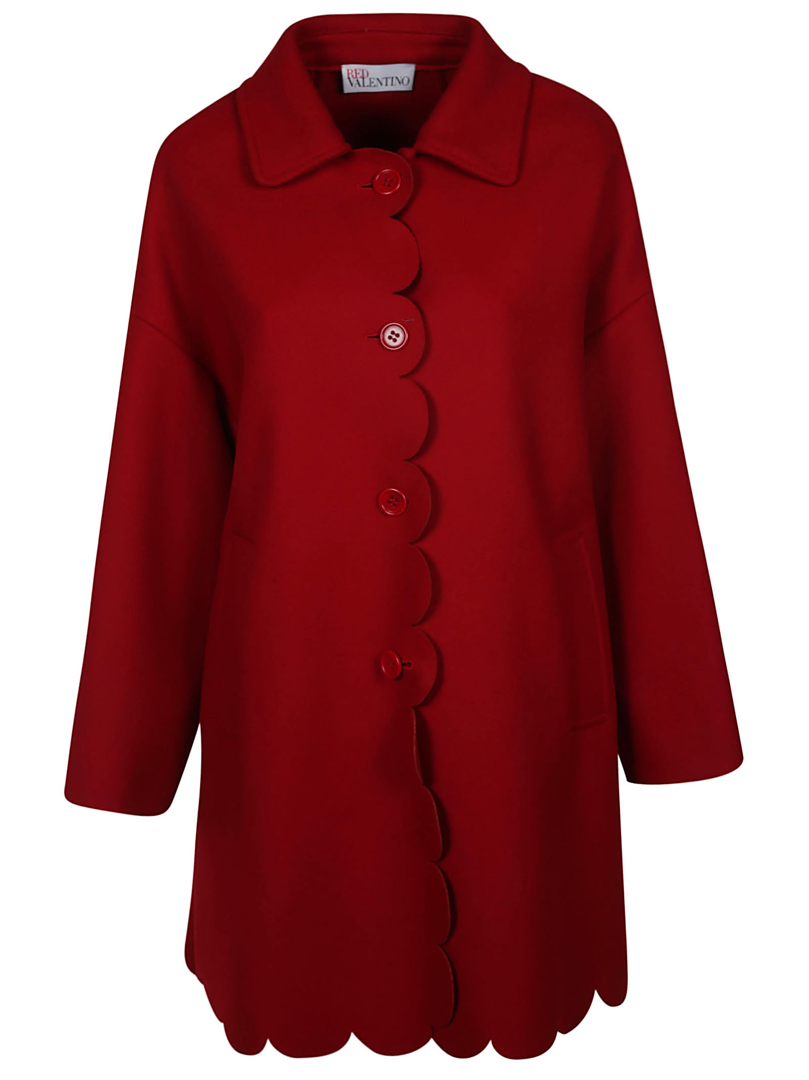 RED Valentino Scalloped Coat