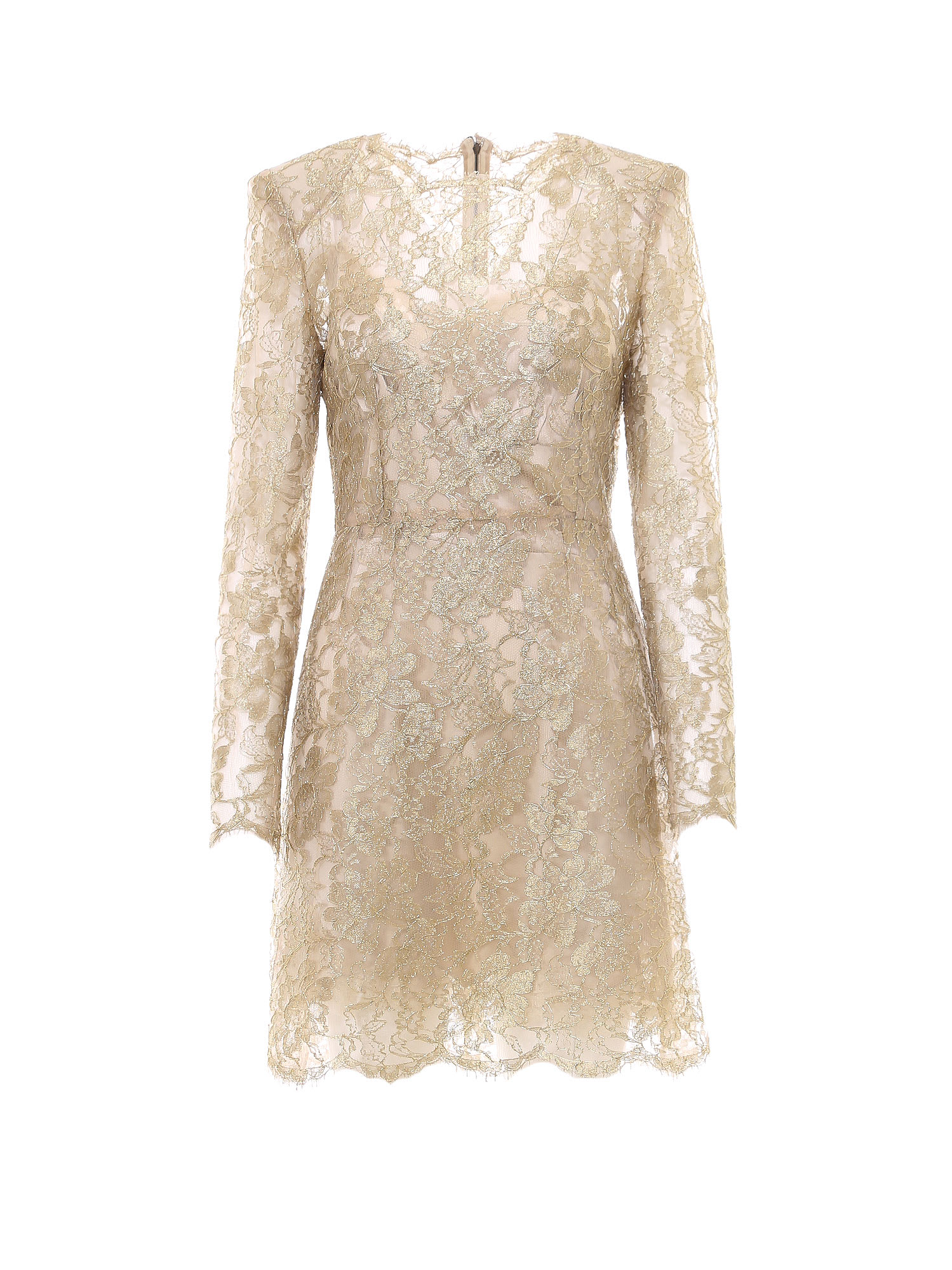 Buy Dolce & Gabbana Laced All-over Short Dress online, shop Dolce & Gabbana with free shipping