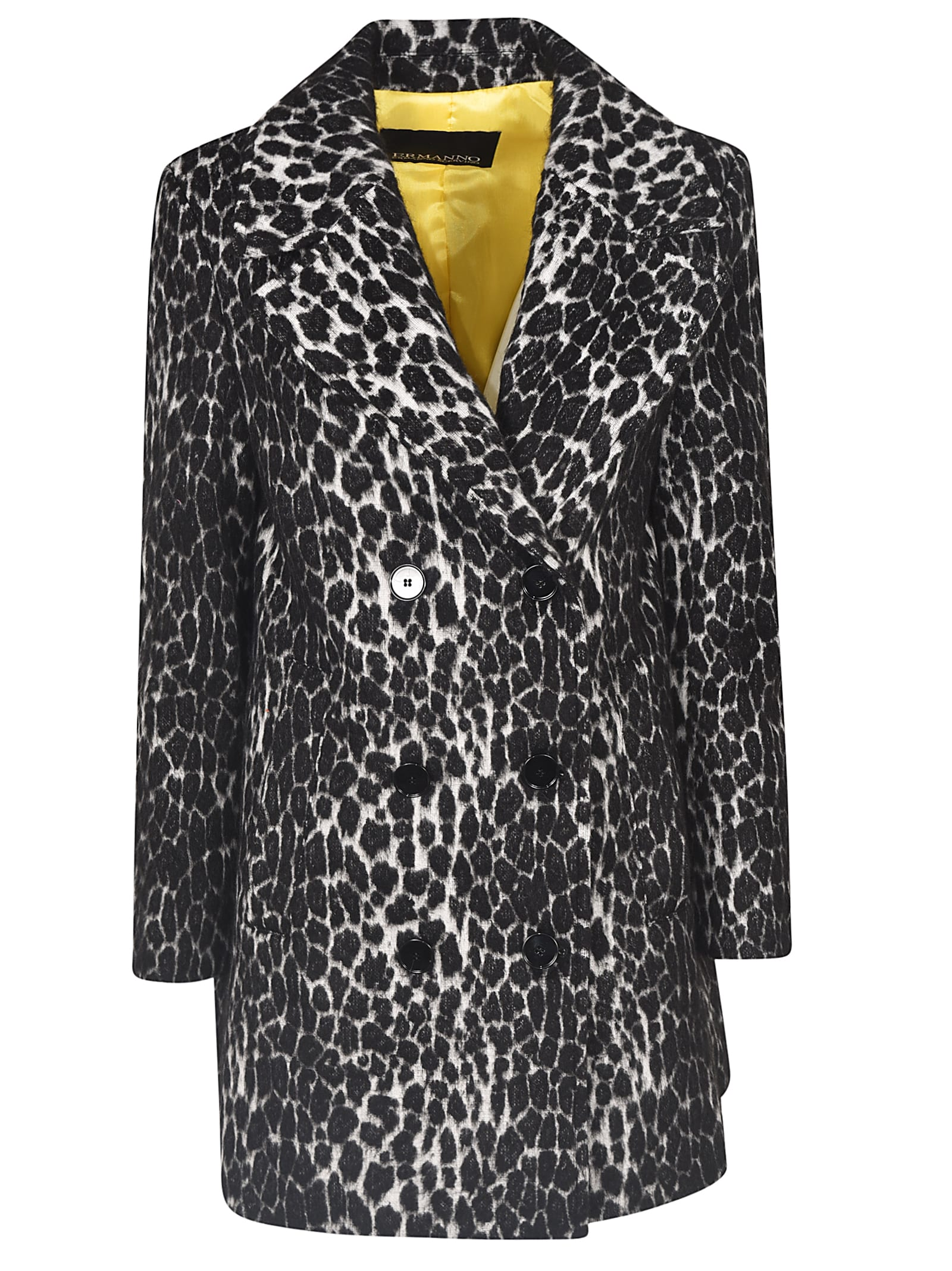 Ermanno Ermanno Scervino Double-breasted Leopard Coat