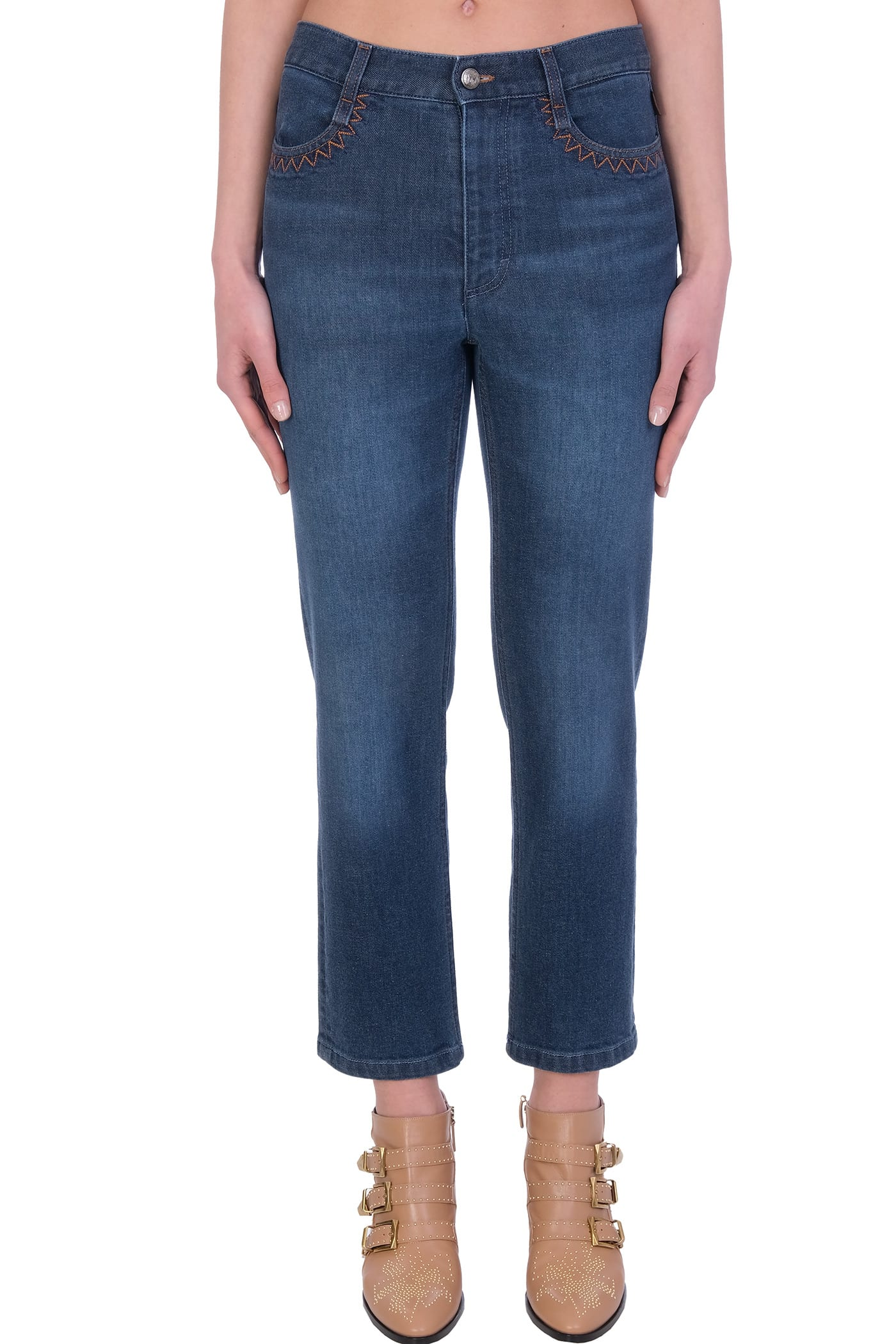 Chloé JEANS IN BLUE DENIM