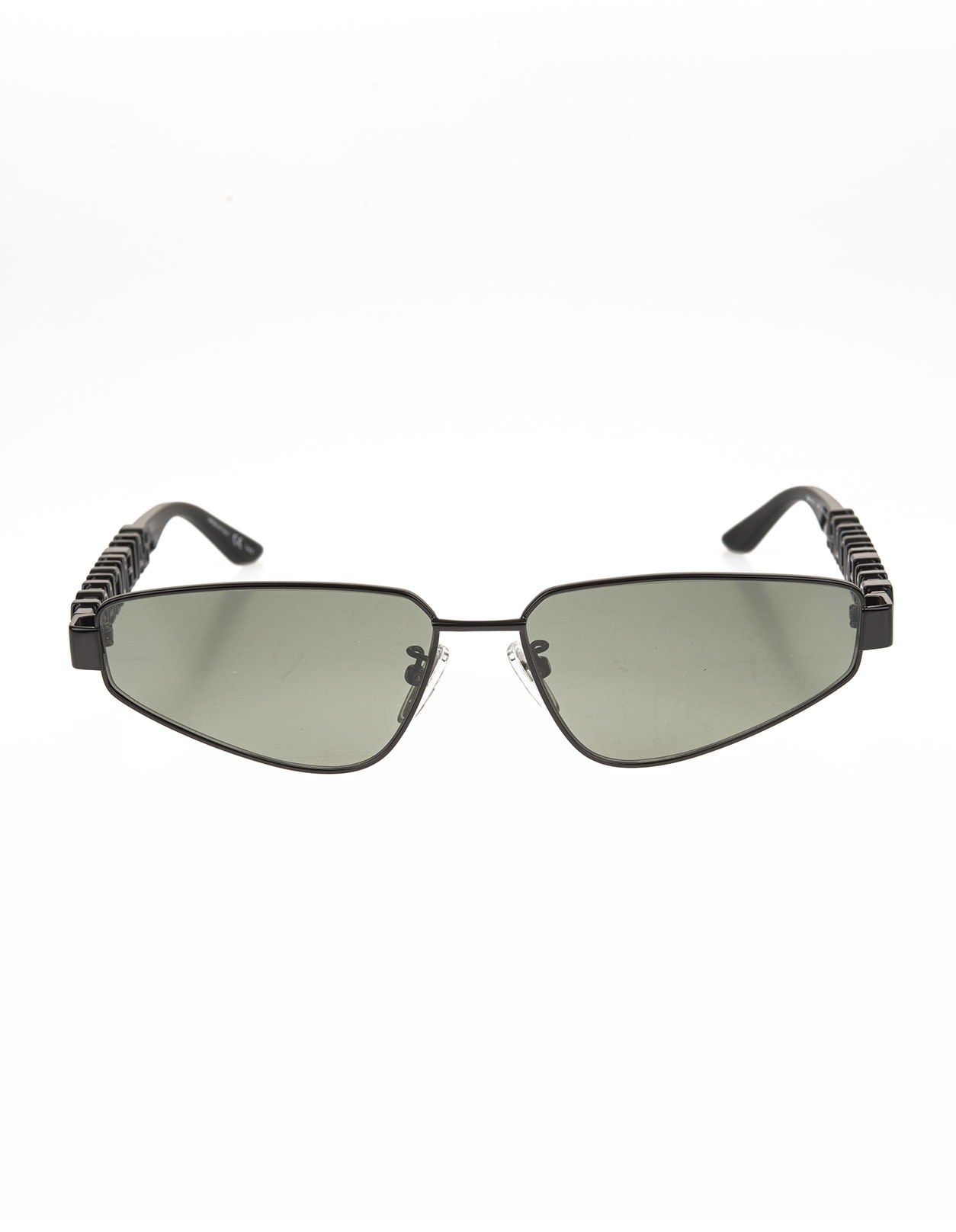 Black Typo Rectangle Sunglasses For Women