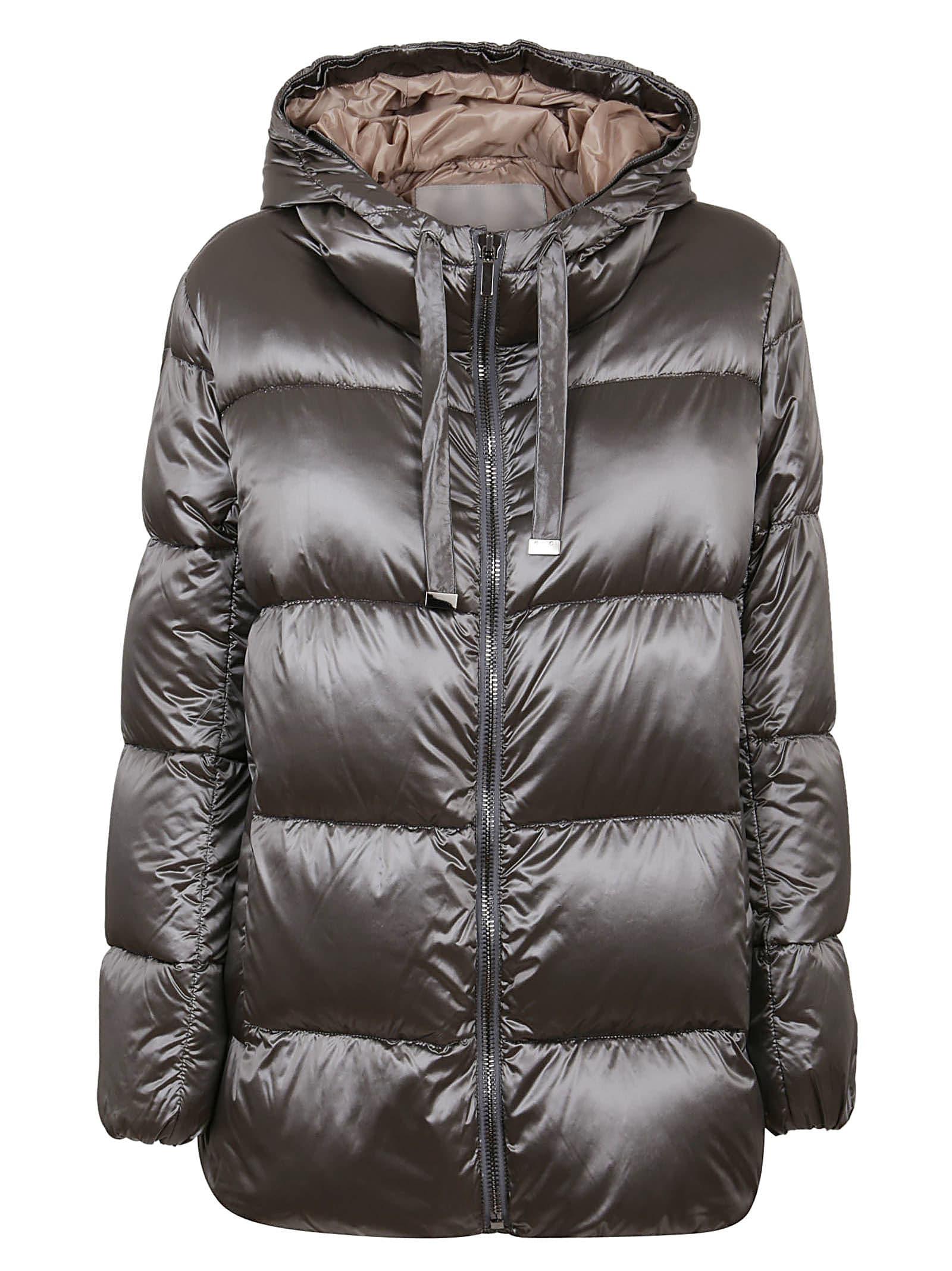 Max Mara Grey Technical Fabric Padded Jacket