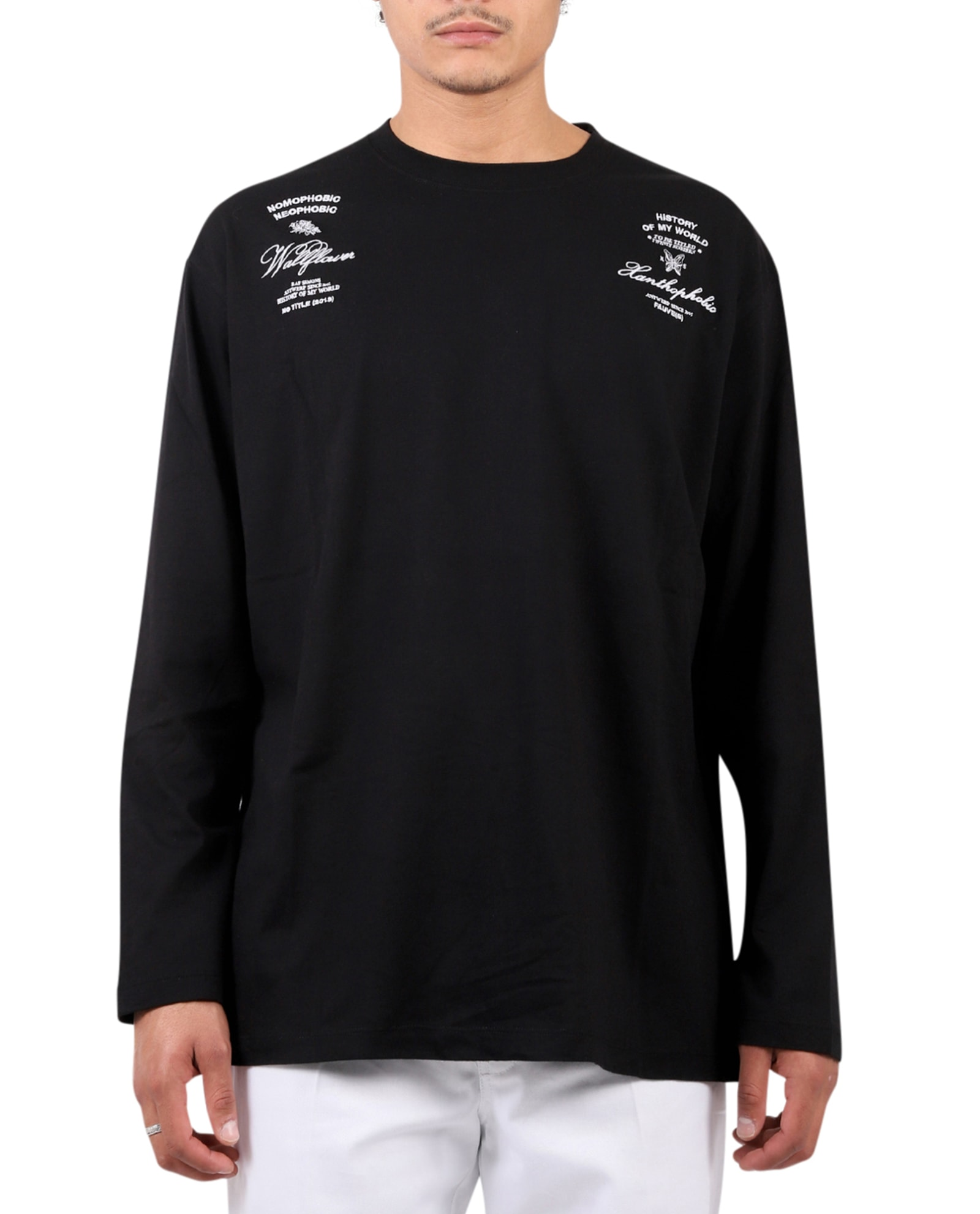 Raf Simons Tops BLACK LS T-SHIRT